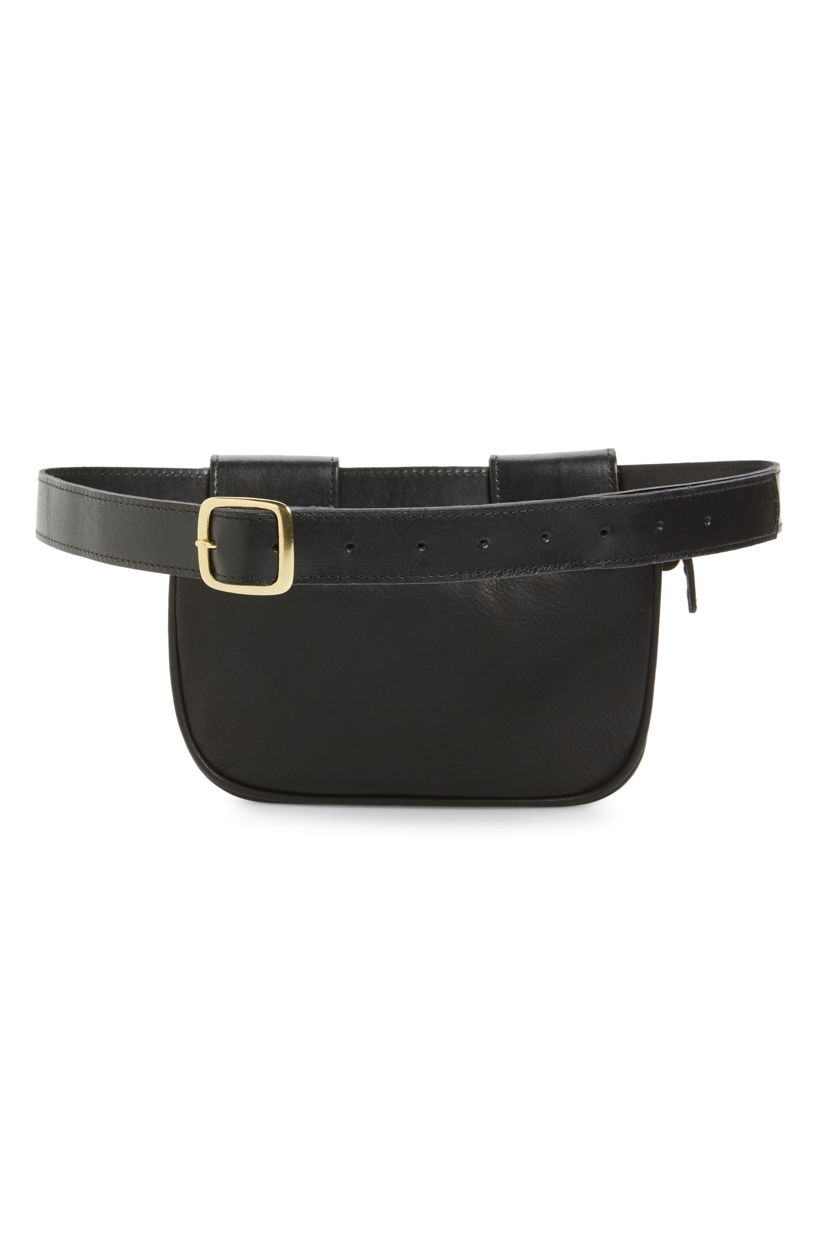 Leather Fanny Pack,                             Alternate thumbnail 5, color,
