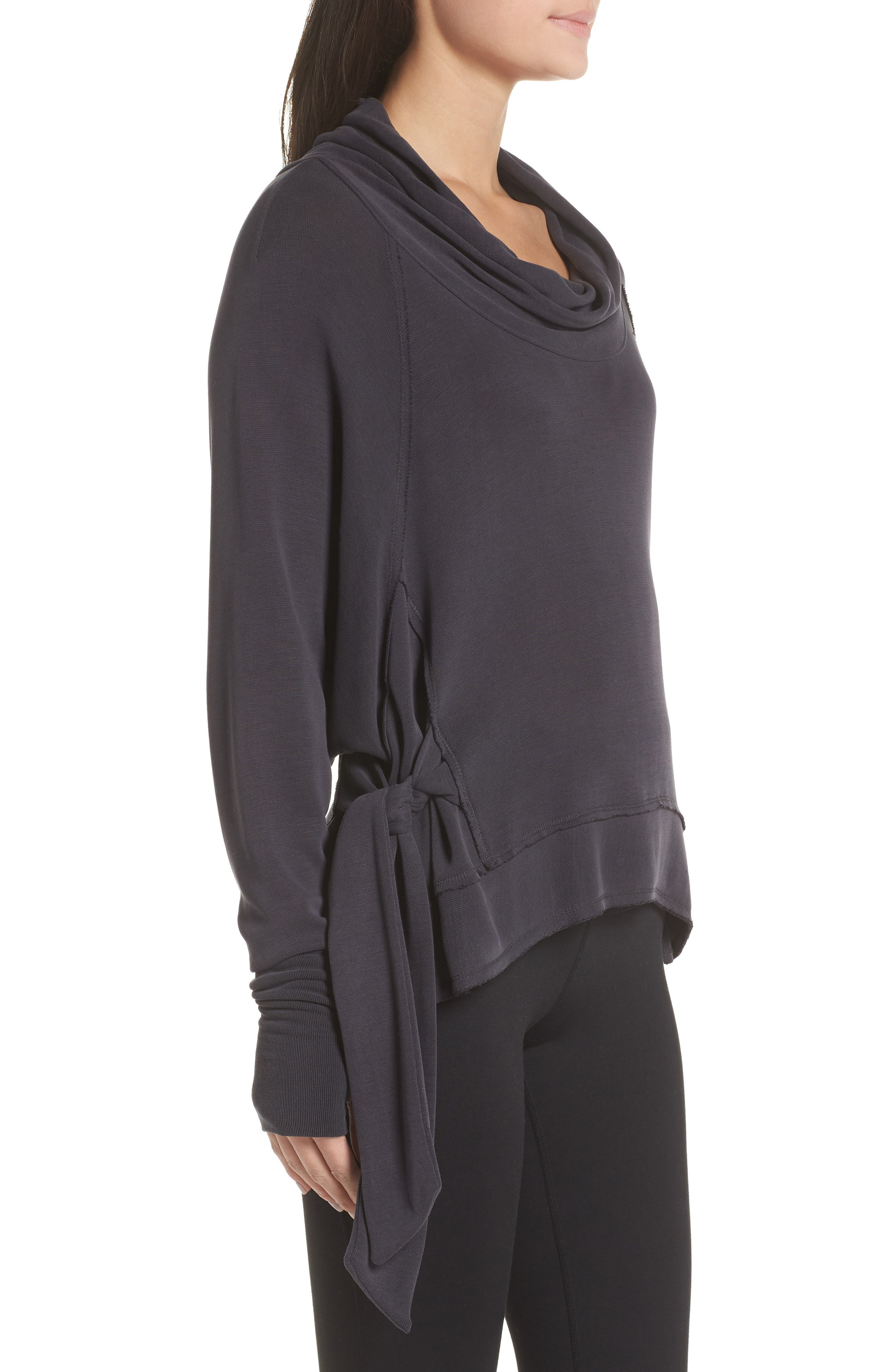 Free People FP Movement Sweet Flow Pullover Sweater,                             Alternate thumbnail 3, color,                             BLACK