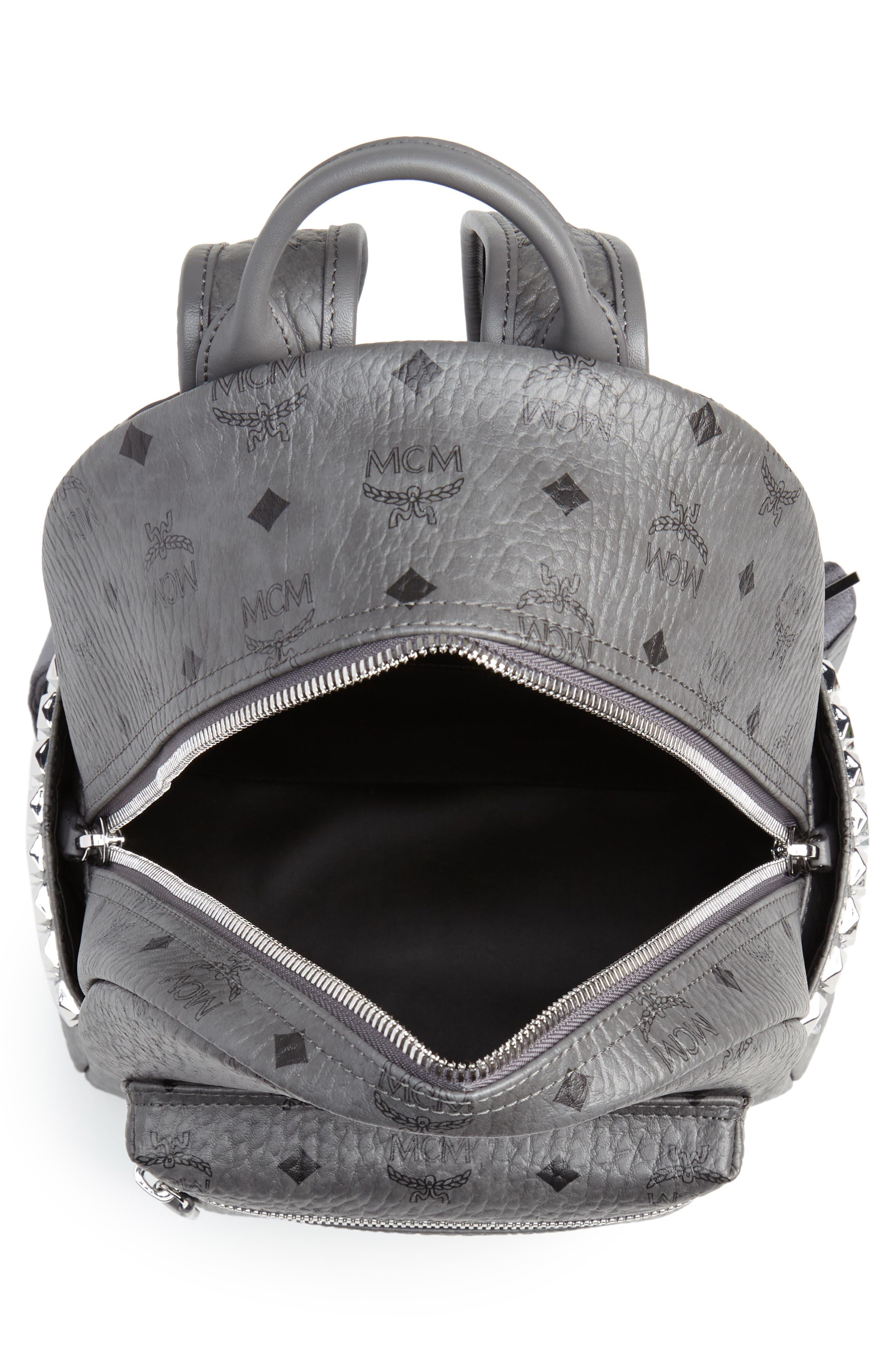 Small Stark Side Stud Backpack,                             Alternate thumbnail 4, color,                             PHANTOM GREY