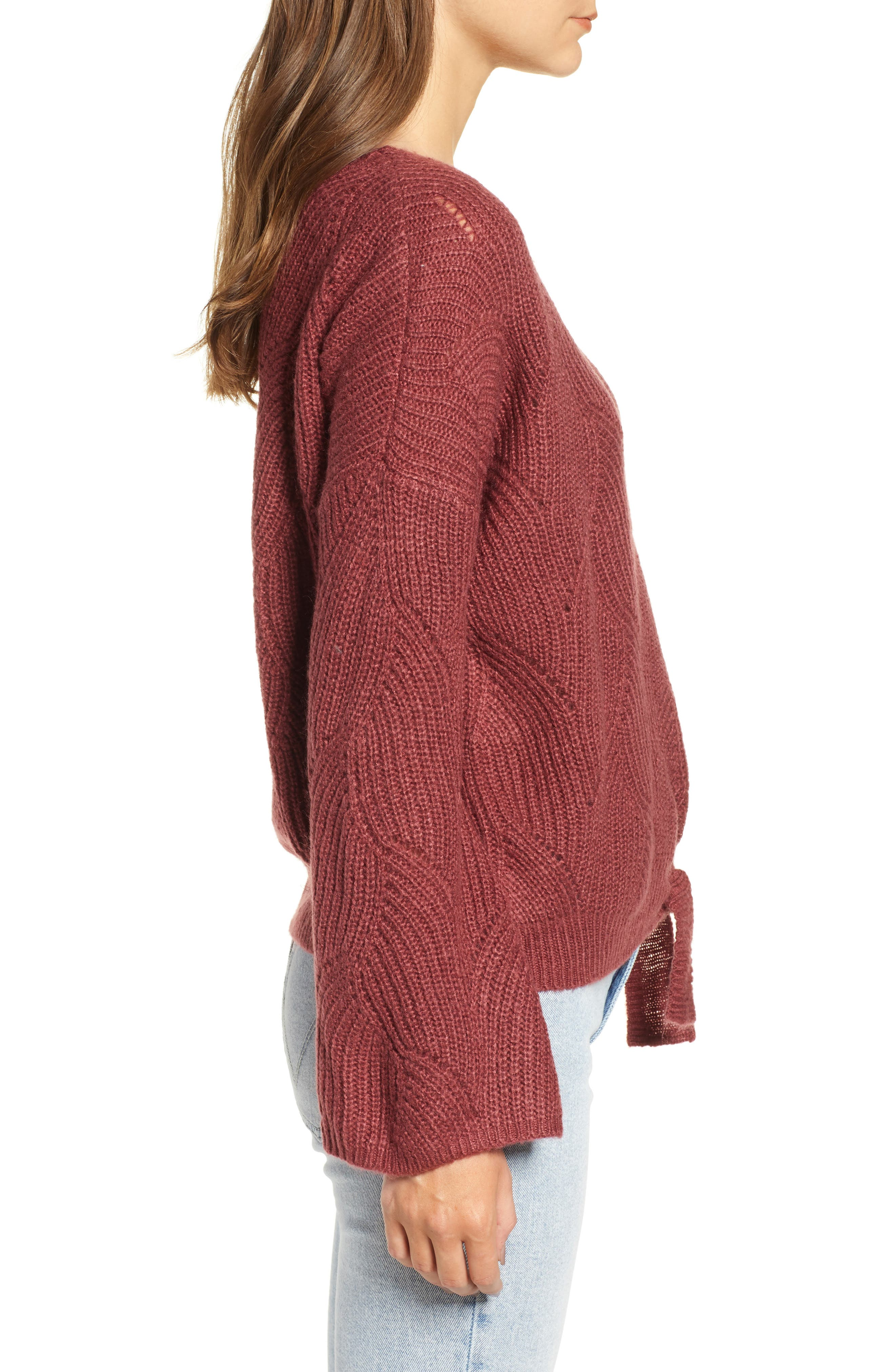 See You In Bali Sweater,                             Alternate thumbnail 3, color,                             OXBLOOD RED