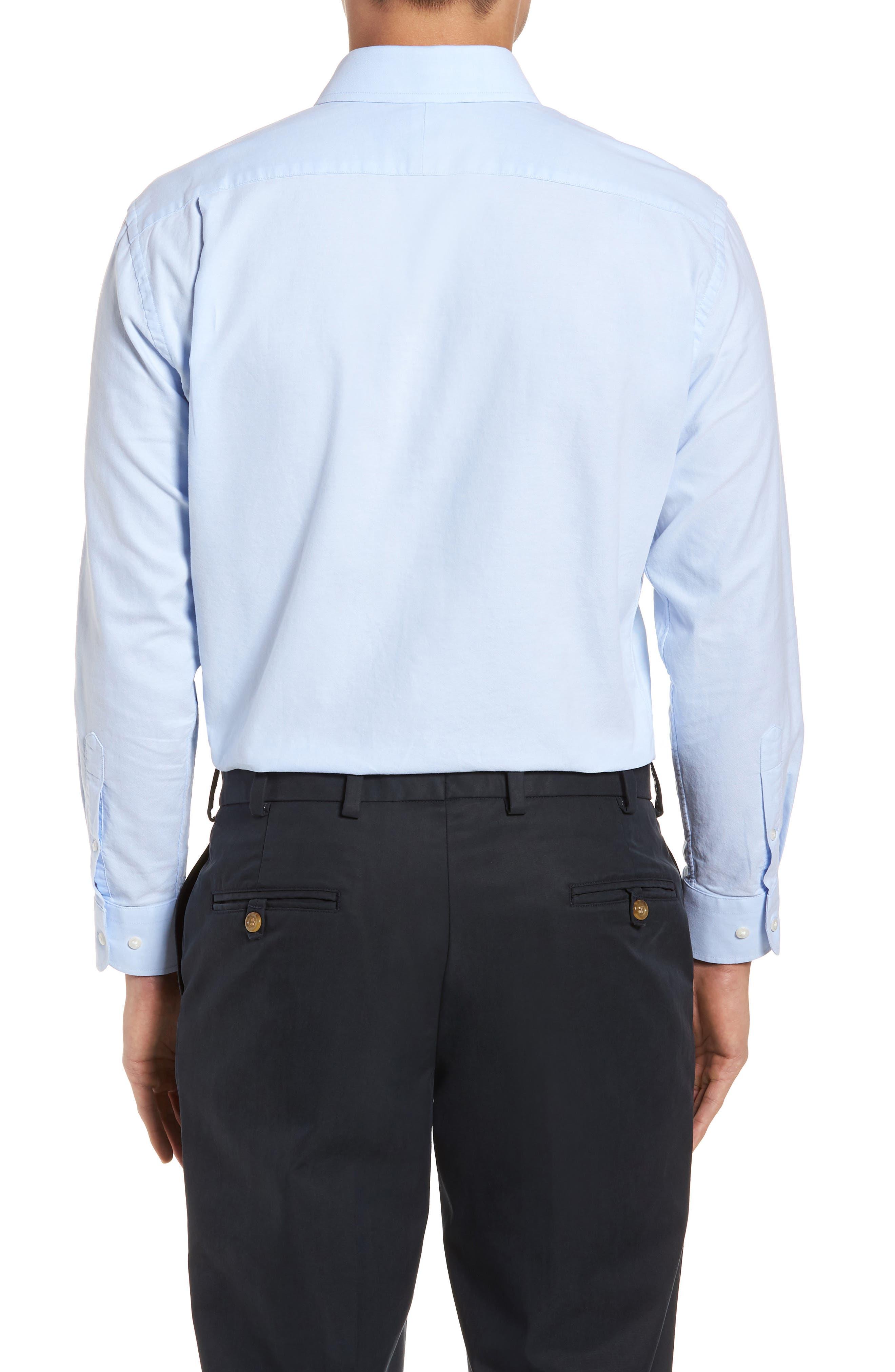 Trim Fit Solid Dress Shirt,                             Alternate thumbnail 10, color,