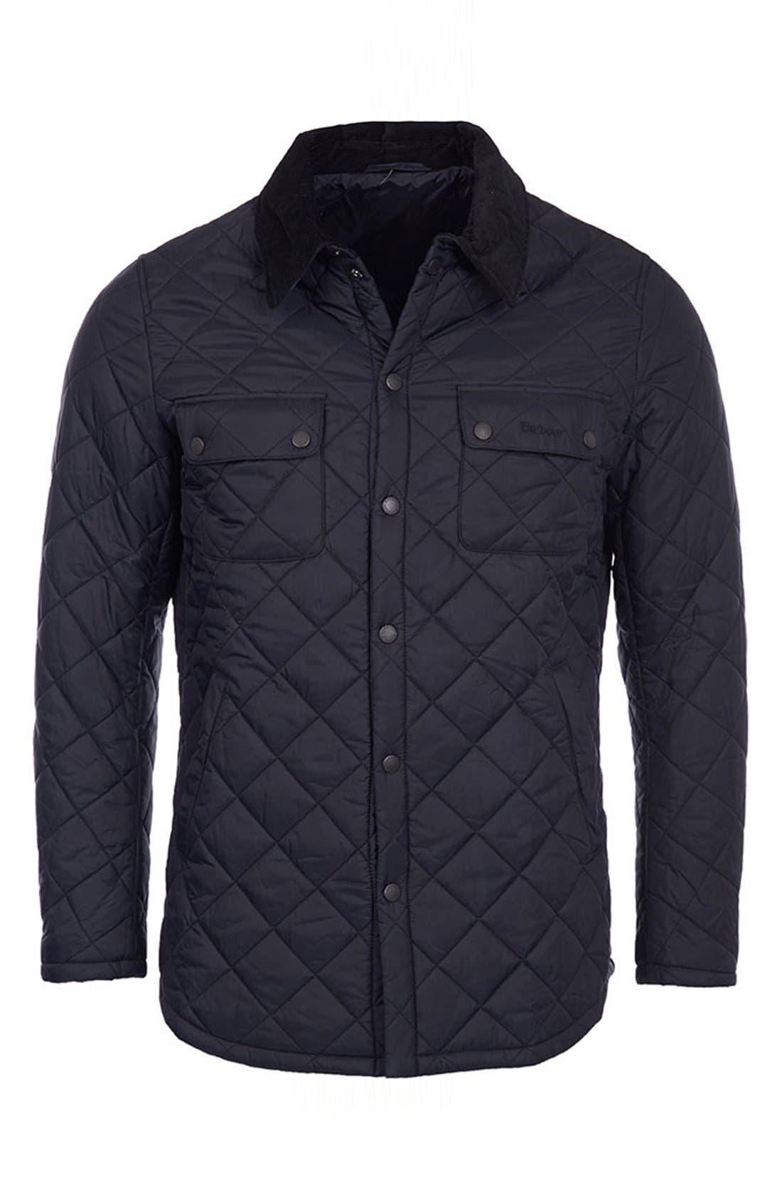 'Akenside' Regular Fit Quilted Jacket,                         Main,                         color, 001