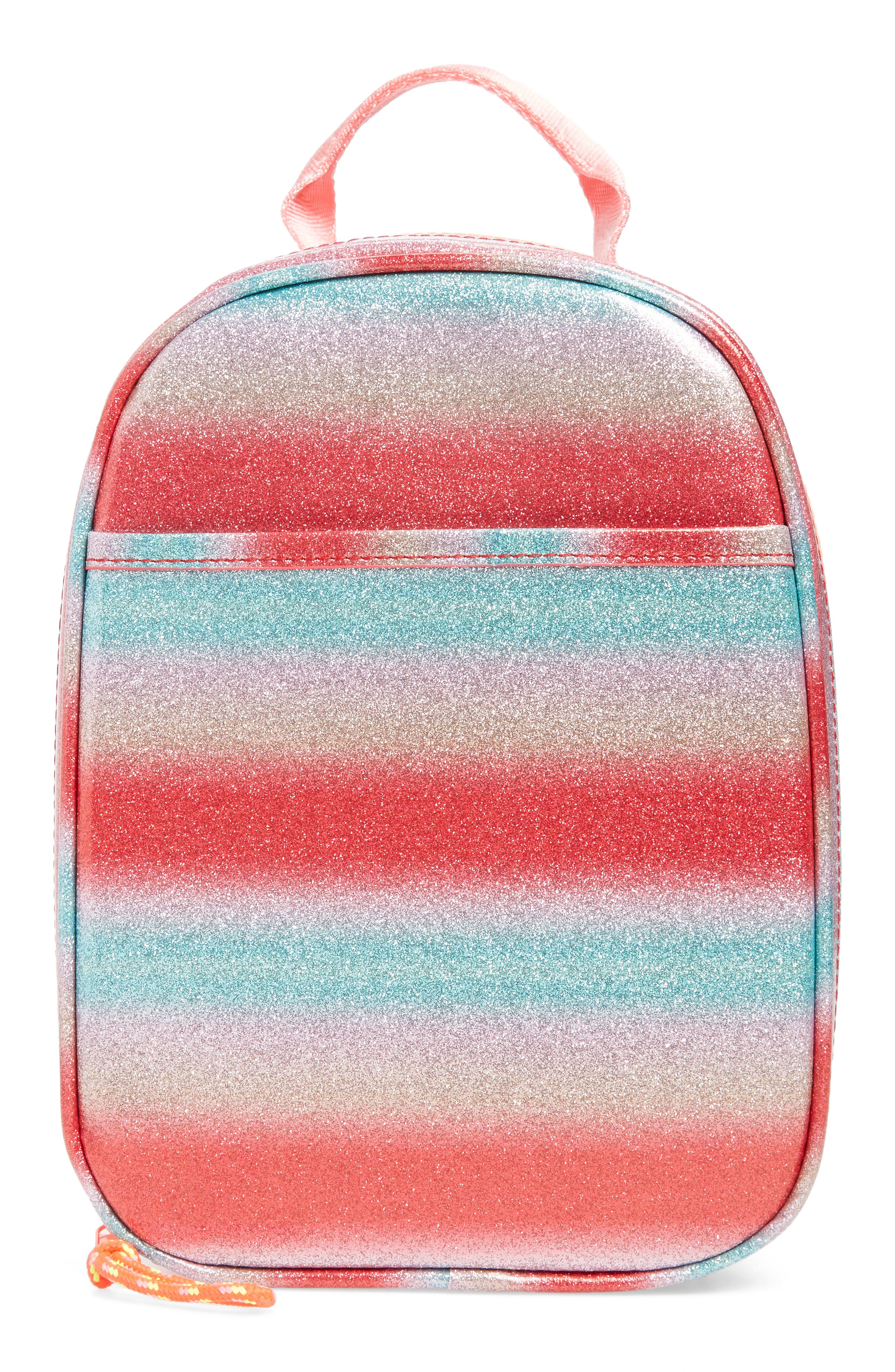 Glitter Stripe Lunch Box,                             Main thumbnail 1, color,                             RAINBOW
