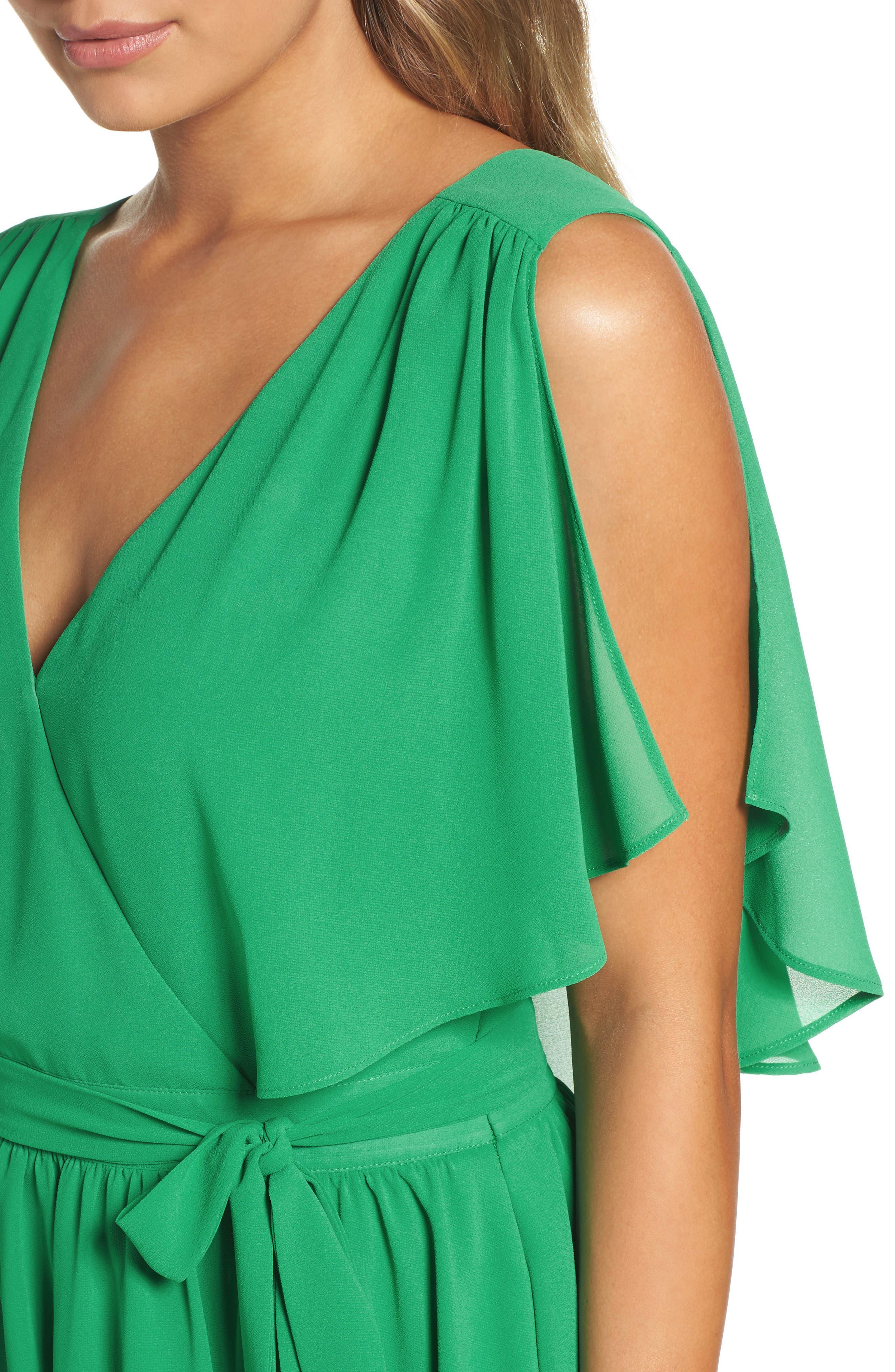 BB Dakota Catia Fit & Flare Dress,                             Alternate thumbnail 4, color,                             300