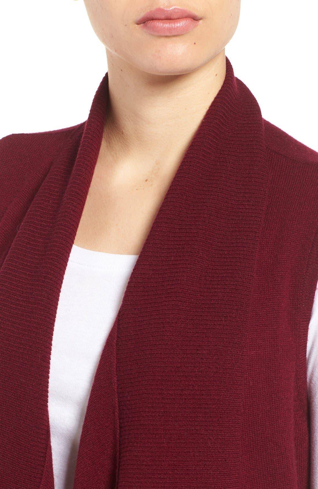Wool & Cashmere Drape Front Sweater Vest,                             Alternate thumbnail 32, color,