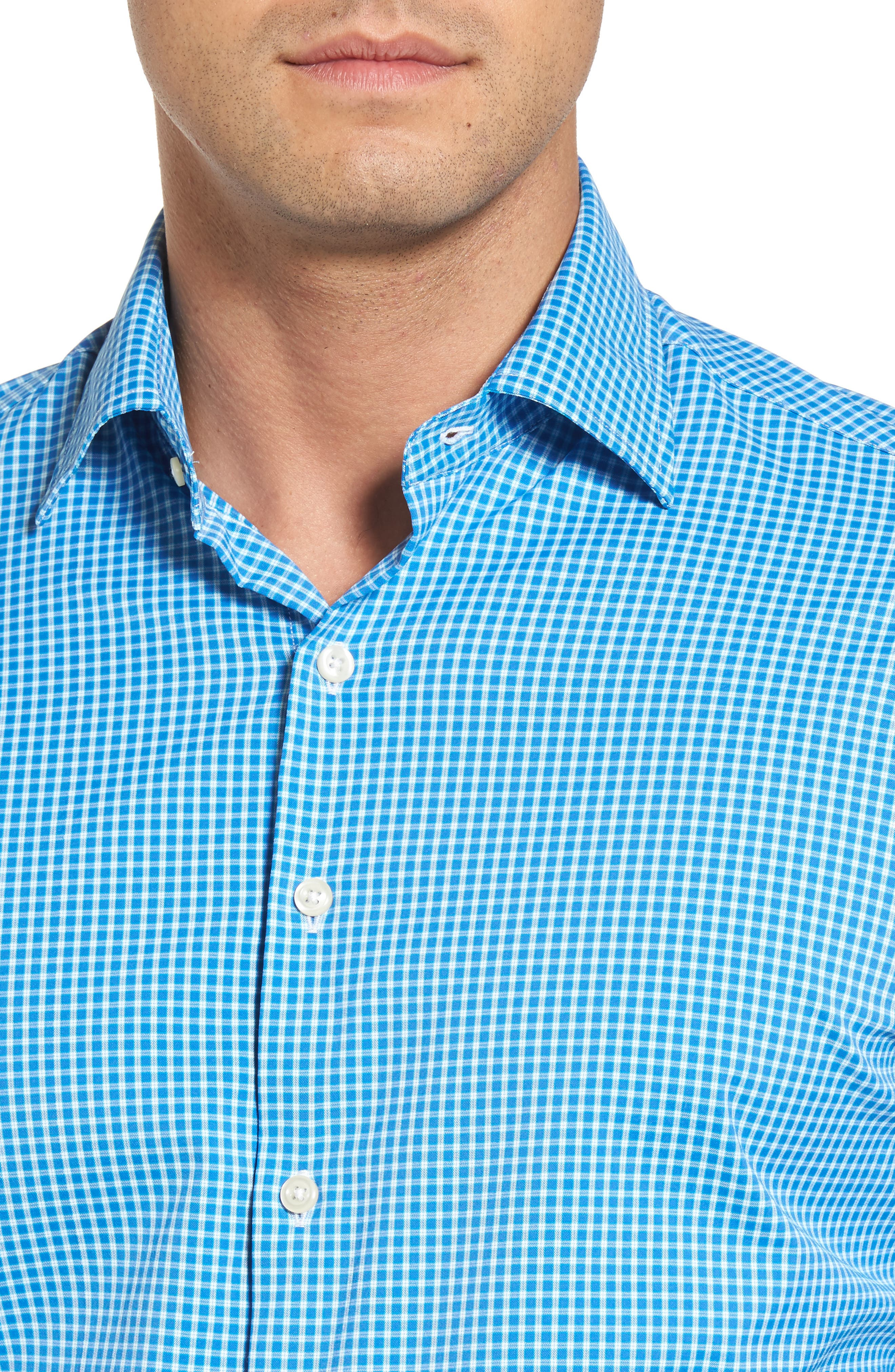 Statler Regular Fit Check Performance Sport Shirt,                             Alternate thumbnail 4, color,                             403