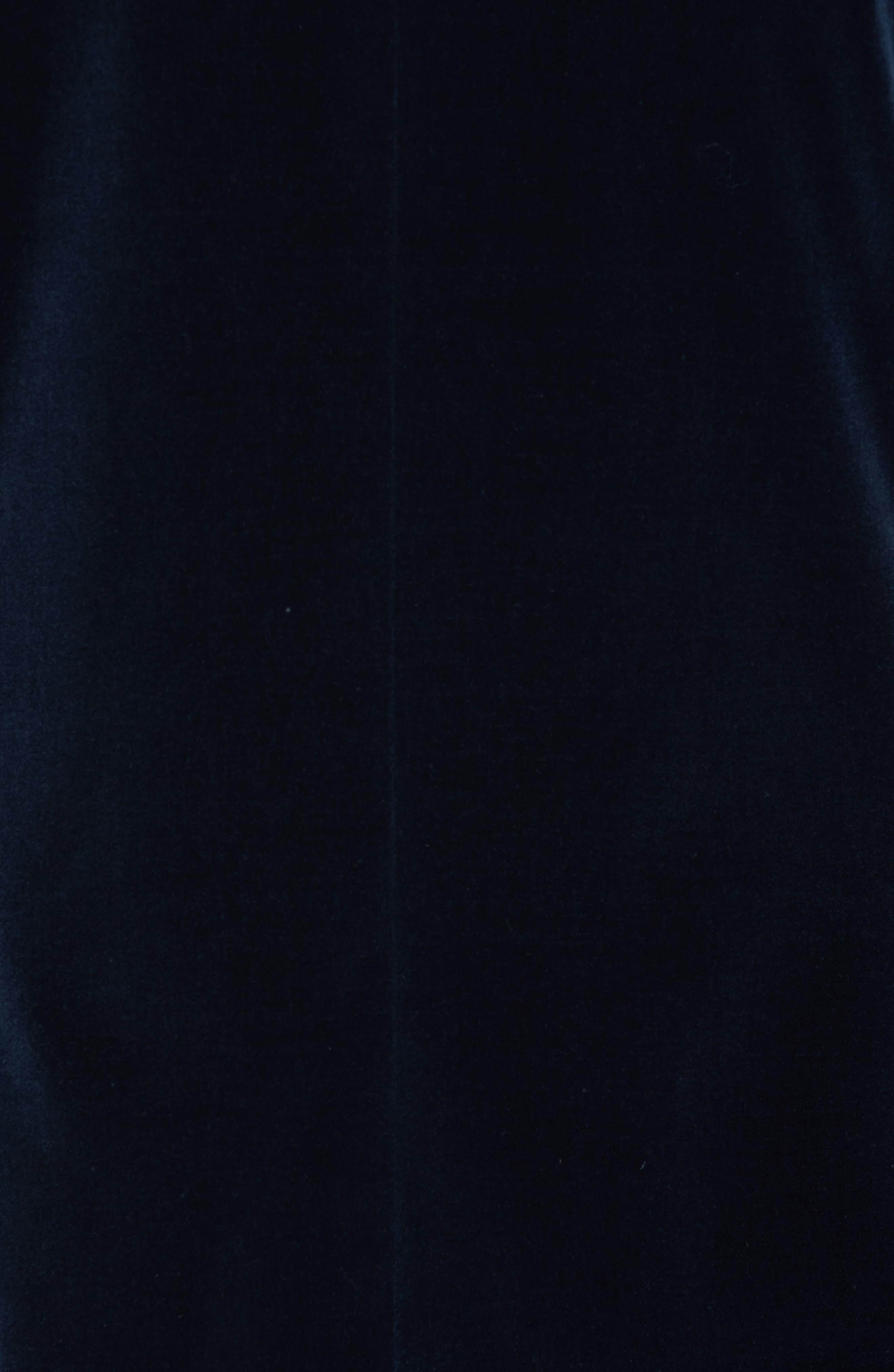 Josh Trim Fit Stretch Velvet Dinner Jacket,                             Alternate thumbnail 6, color,                             NAVY