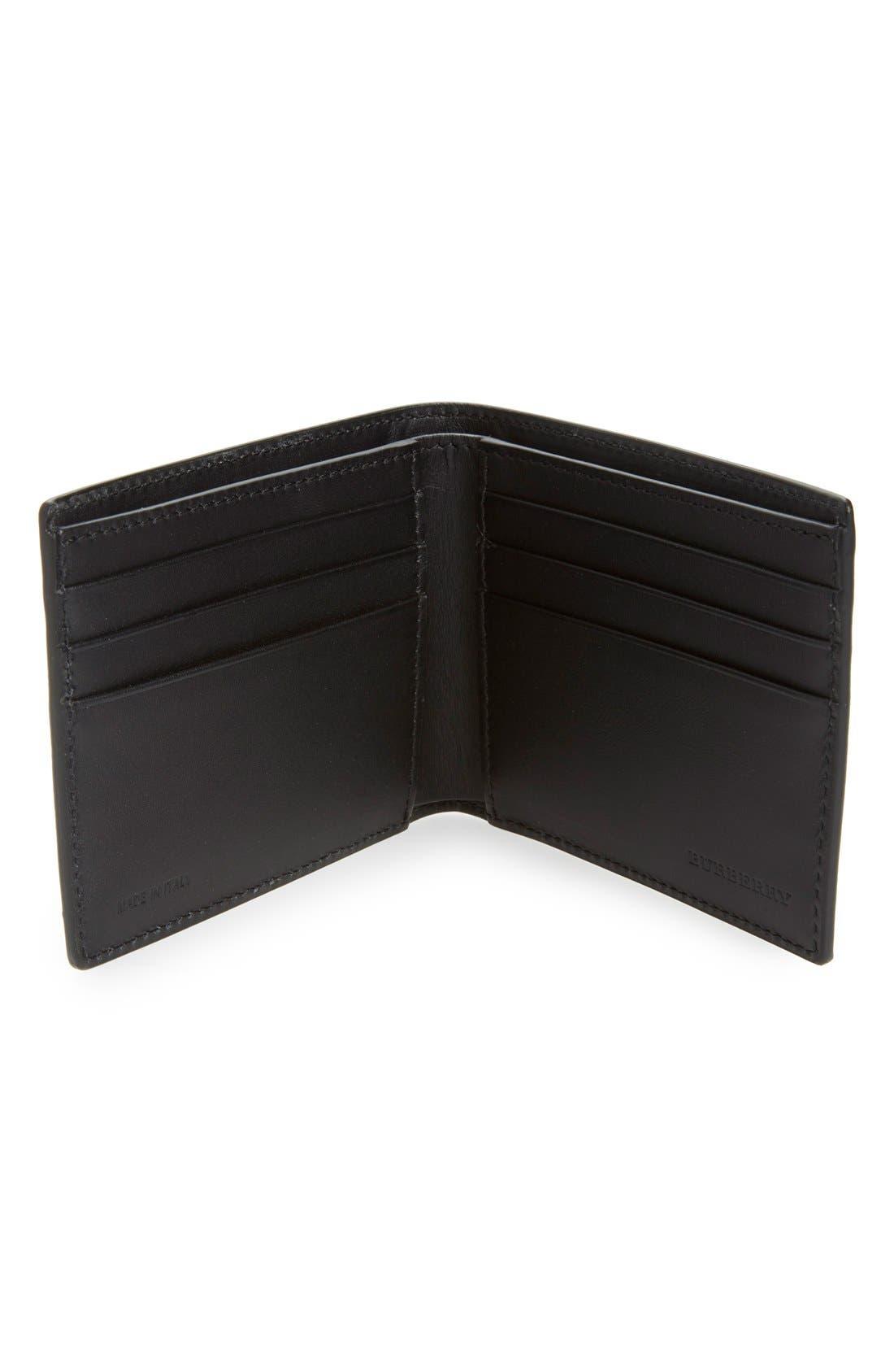 'New London' Calfskin Leather Bifold Wallet,                             Alternate thumbnail 3, color,                             001