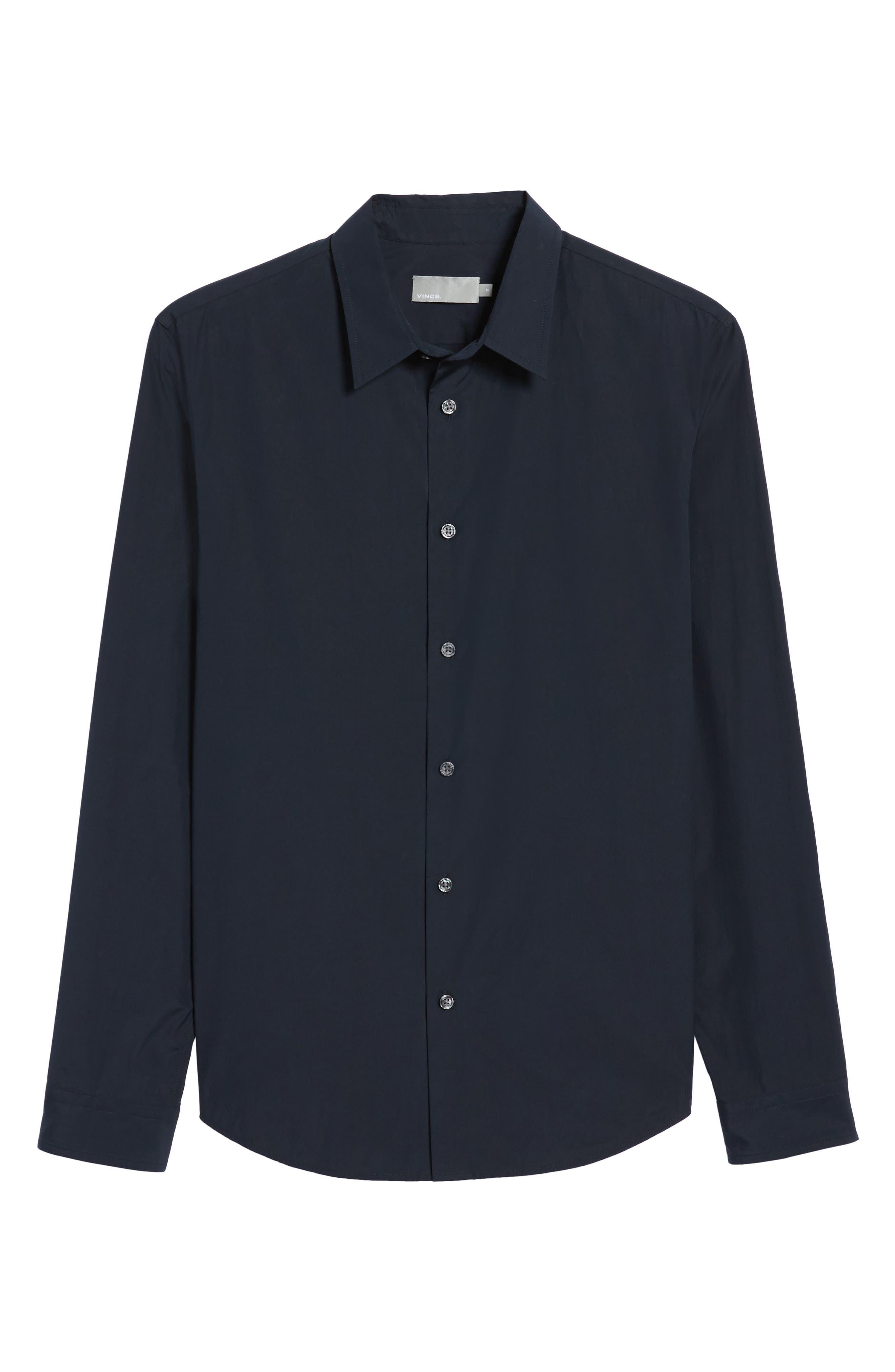 Poplin Slim Fit Sport Shirt,                             Alternate thumbnail 6, color,                             400