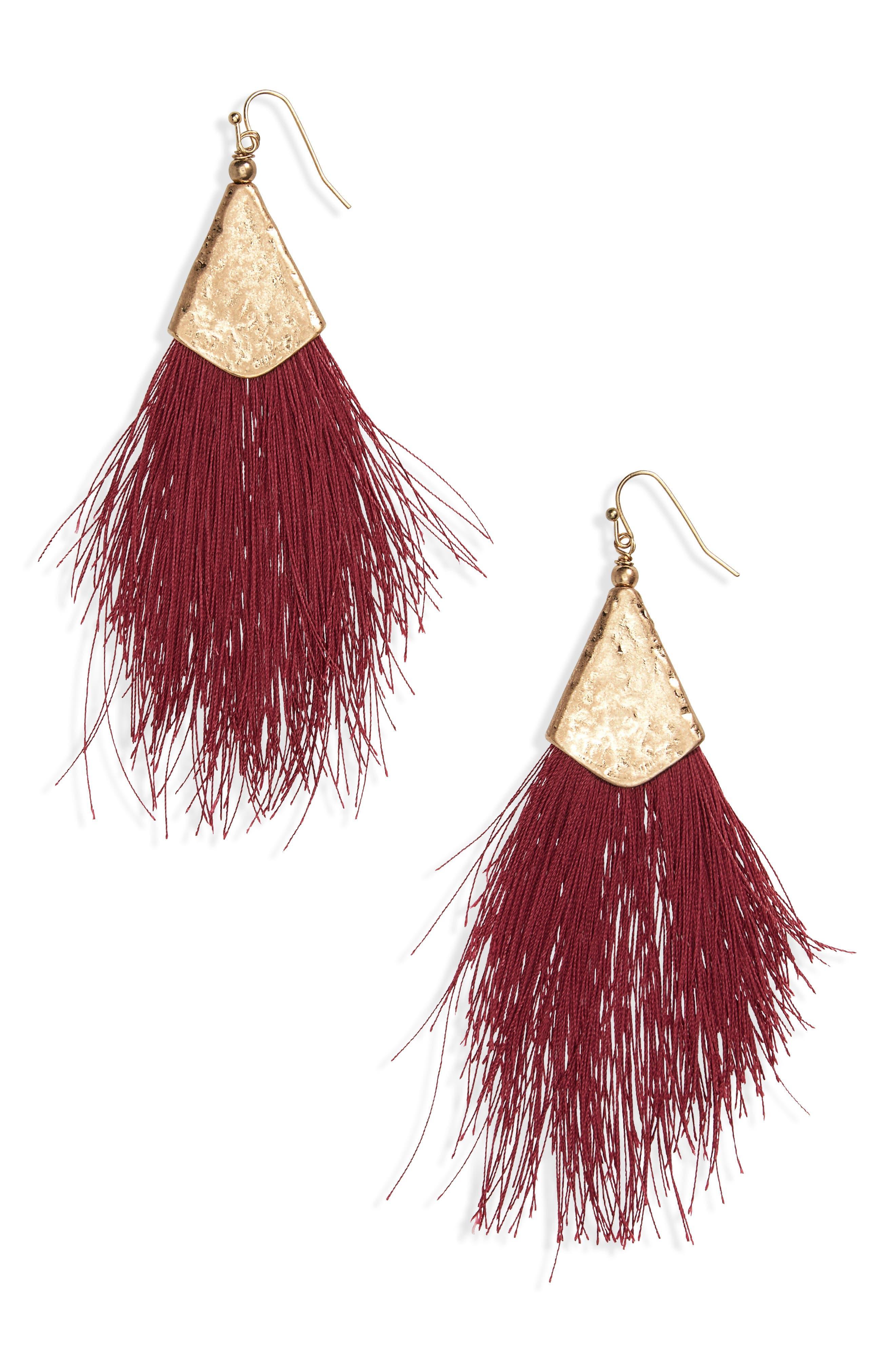 Fan Tassel Earrings,                             Main thumbnail 3, color,