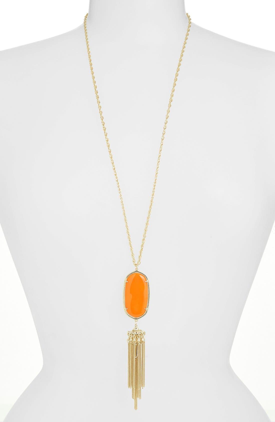 Rayne Stone Tassel Pendant Necklace,                             Main thumbnail 78, color,