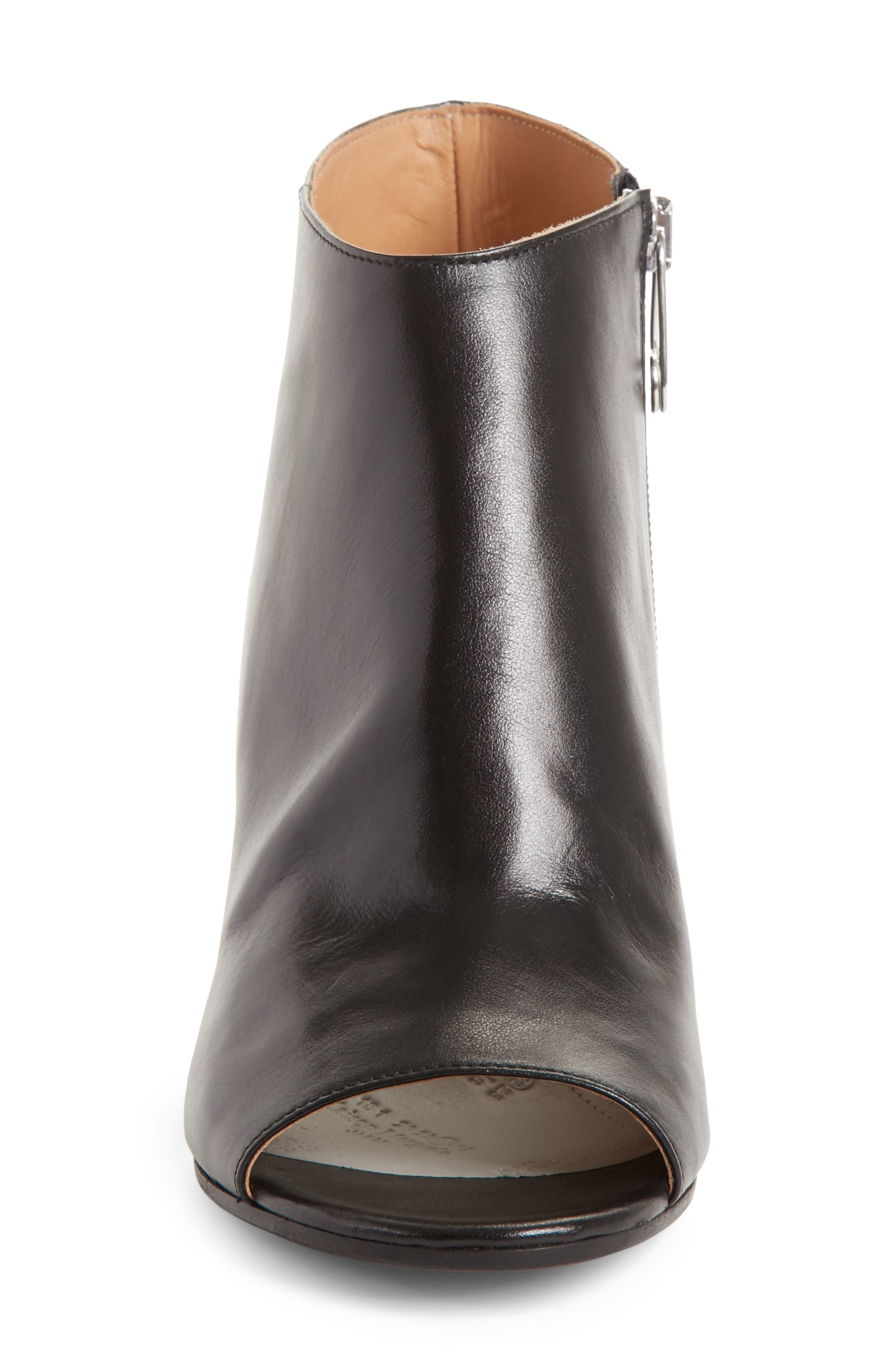 Open Toe Ankle Boot,                             Alternate thumbnail 4, color,                             001
