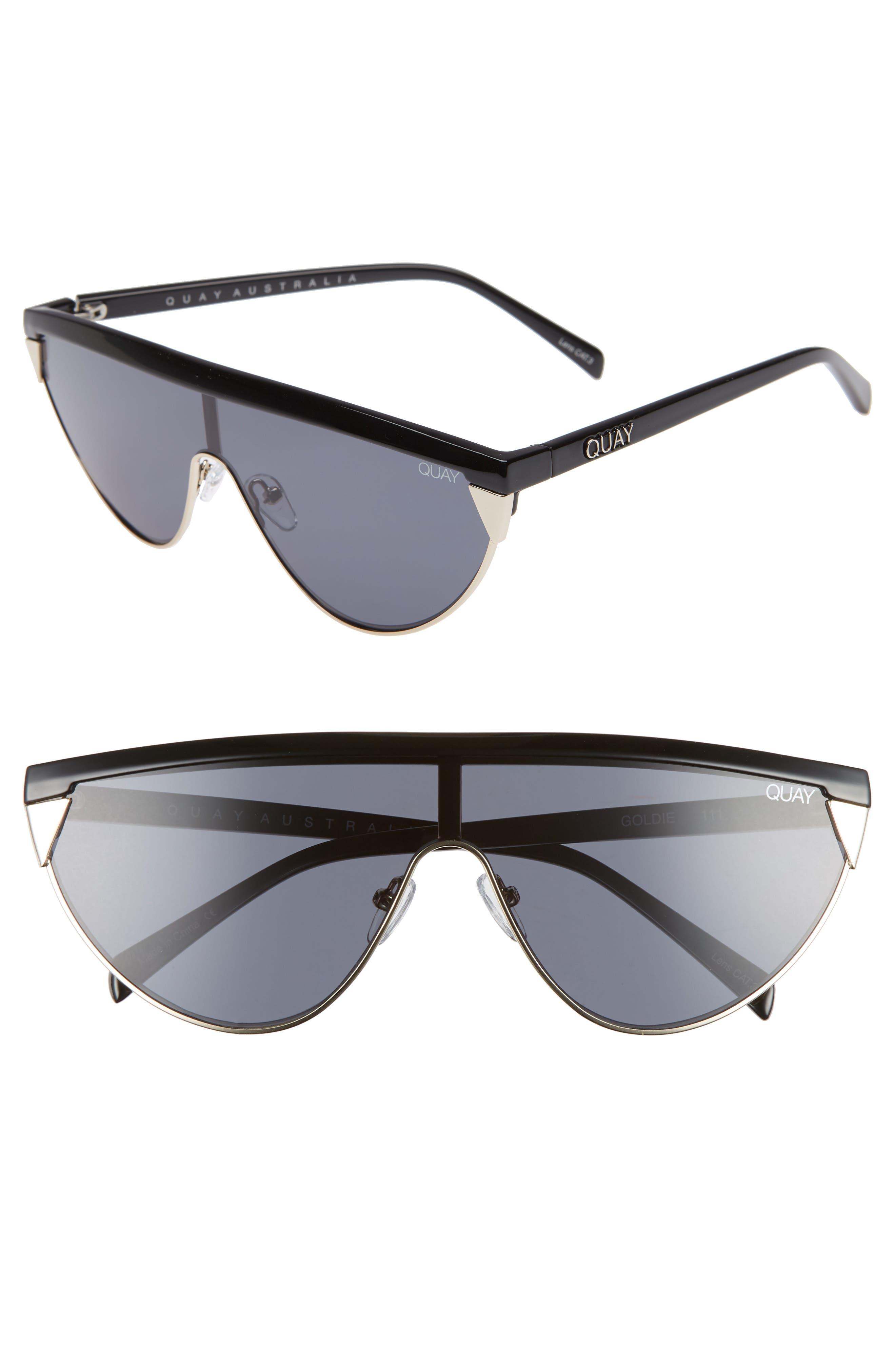 x Elle Ferguson Goldie 48mm Shield Sunglasses,                         Main,                         color, 001