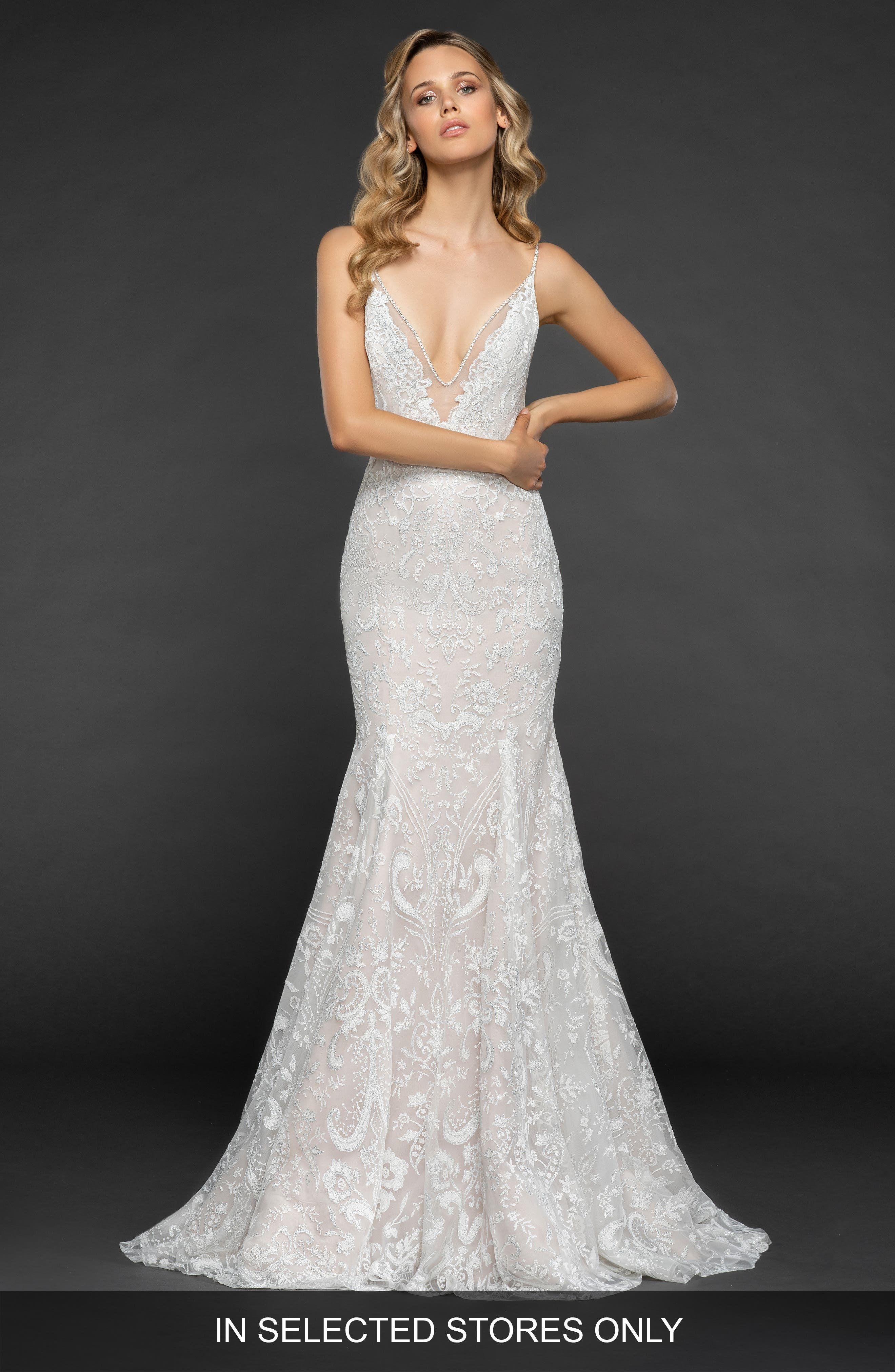 Haruki Gown,                             Main thumbnail 1, color,                             IVORY/ CASHMERE