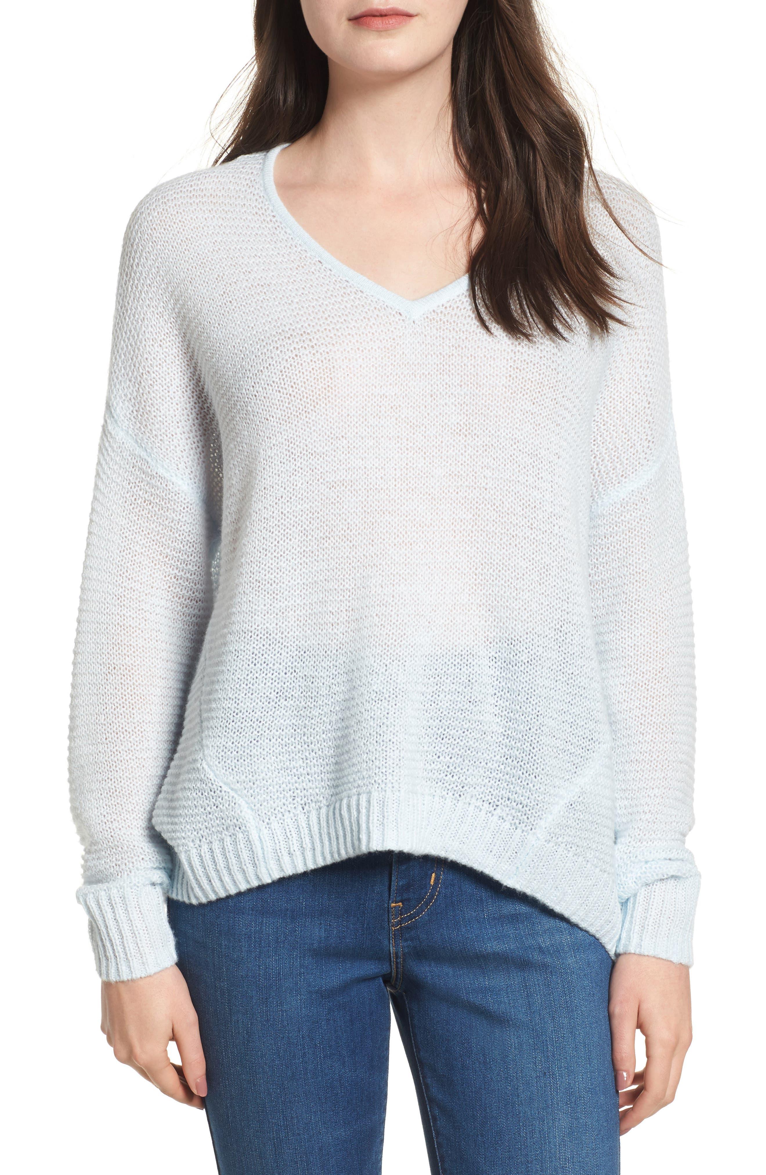 Double V Sweater,                             Main thumbnail 1, color,                             450