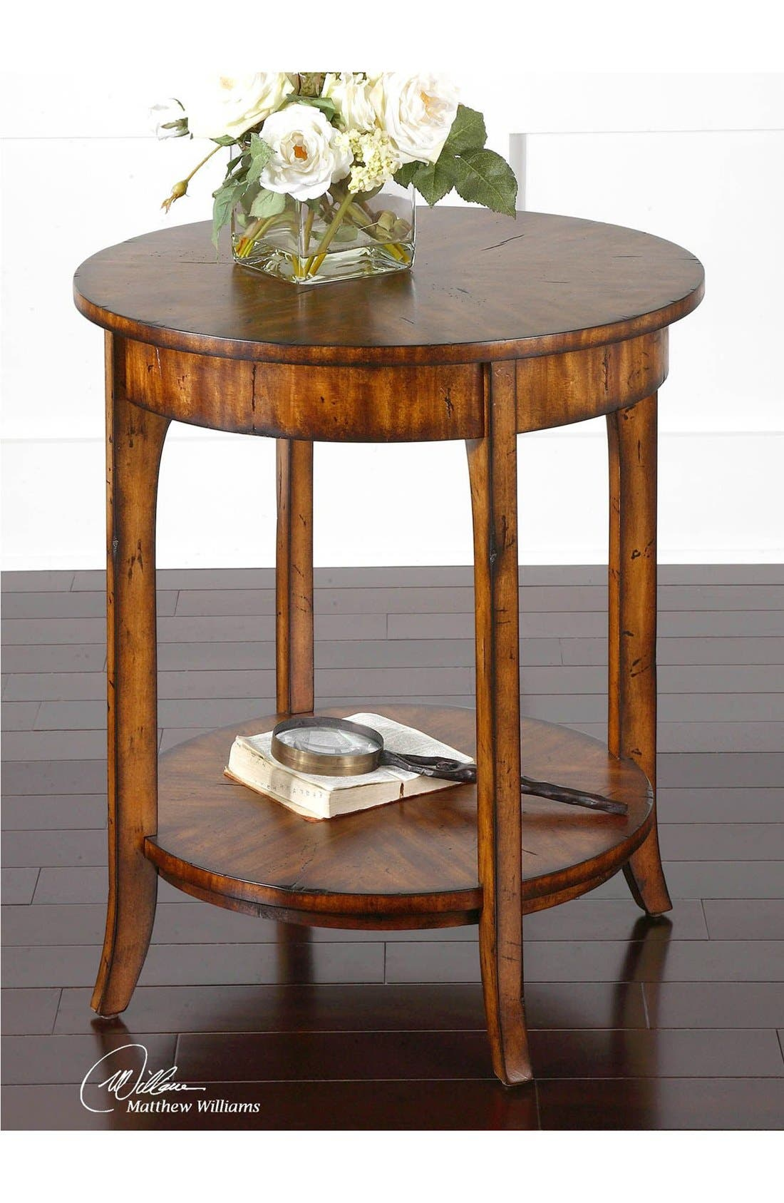 'Carmel' Distressed Wood End Table,                             Alternate thumbnail 2, color,