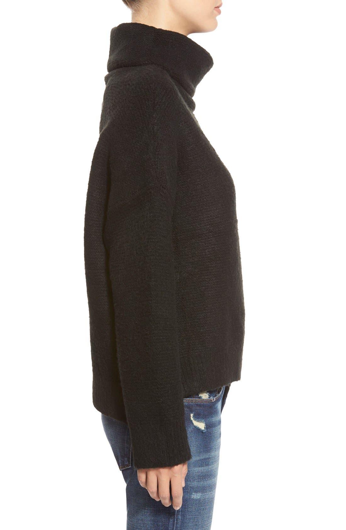 Boxy Turtleneck Sweater,                             Alternate thumbnail 2, color,                             001