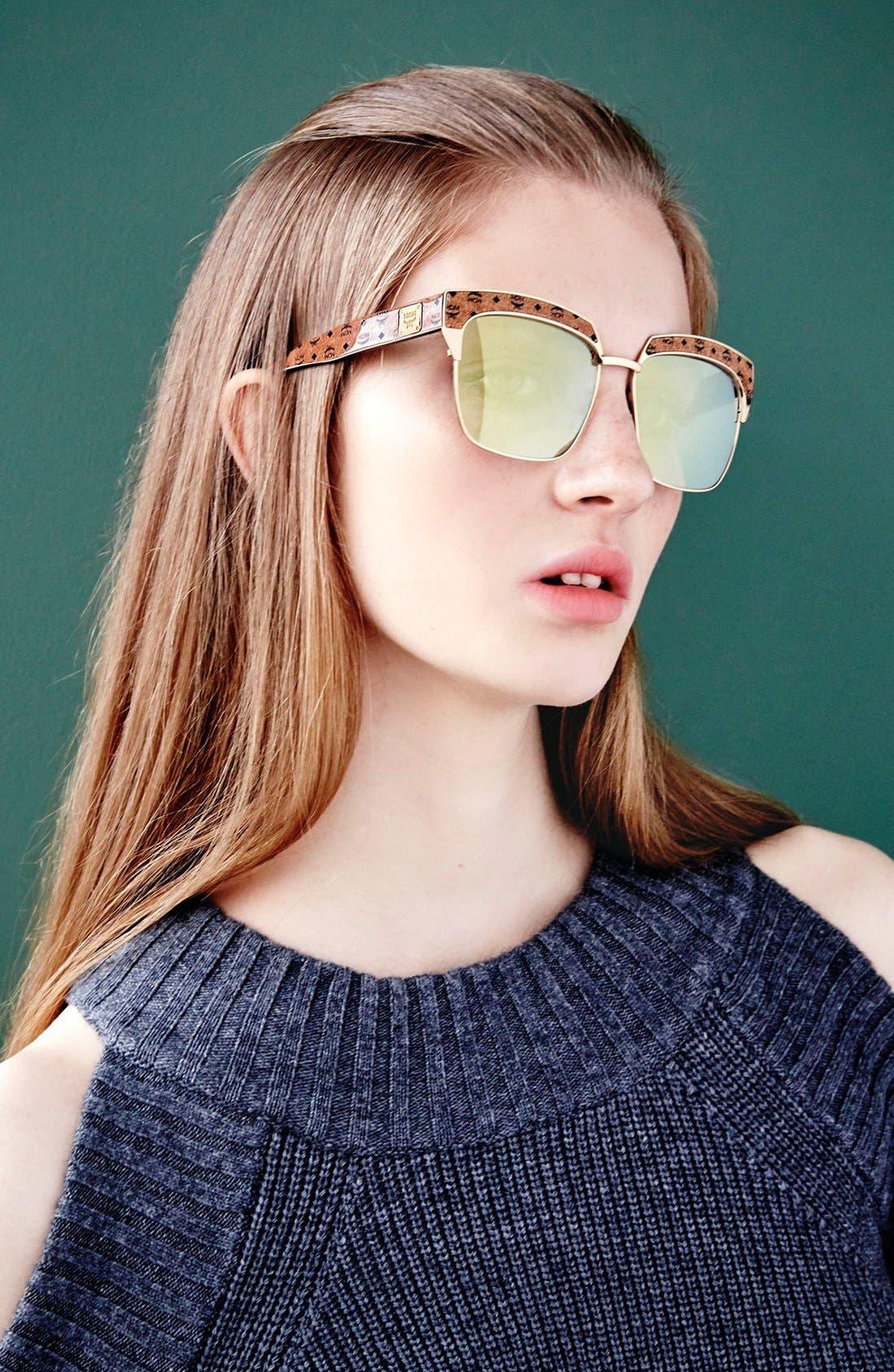 'Visetos' 56mm Retro Sunglasses,                             Alternate thumbnail 3, color,                             005