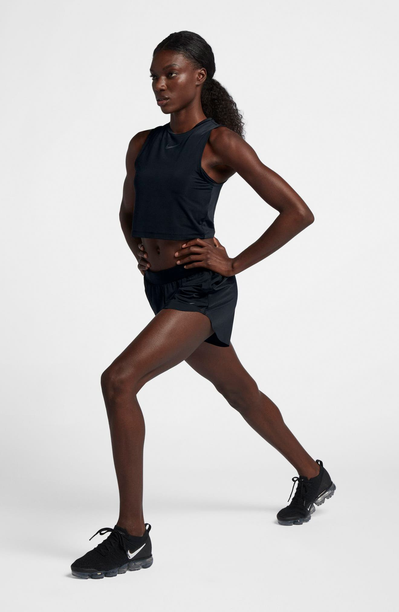 Running Division Women's Cropped Running Top,                             Alternate thumbnail 10, color,                             BLACK/ REFLECT BLACK