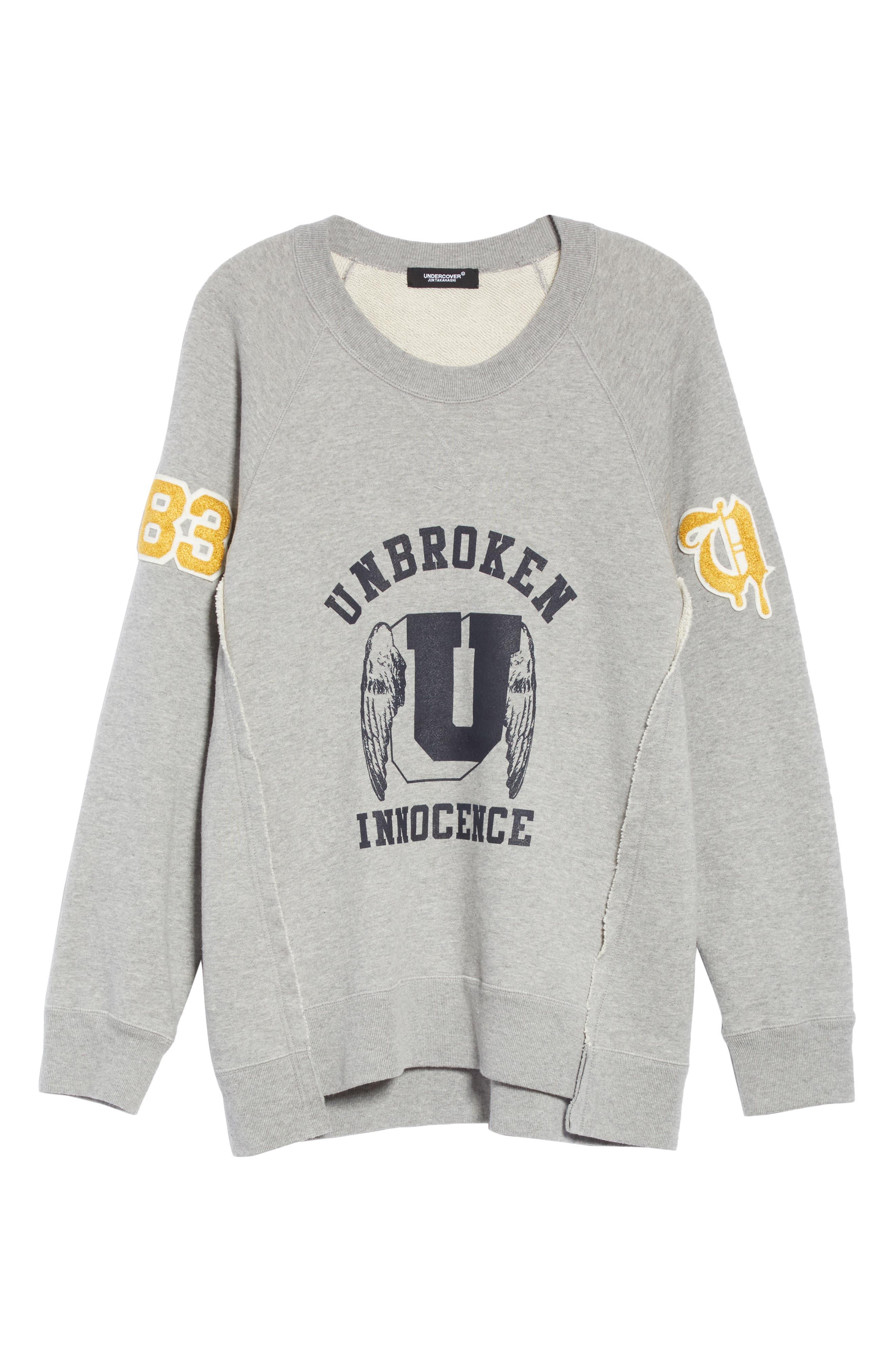 Unbroken Innocence Sweatshirt,                             Alternate thumbnail 6, color,                             B TOP GRAY