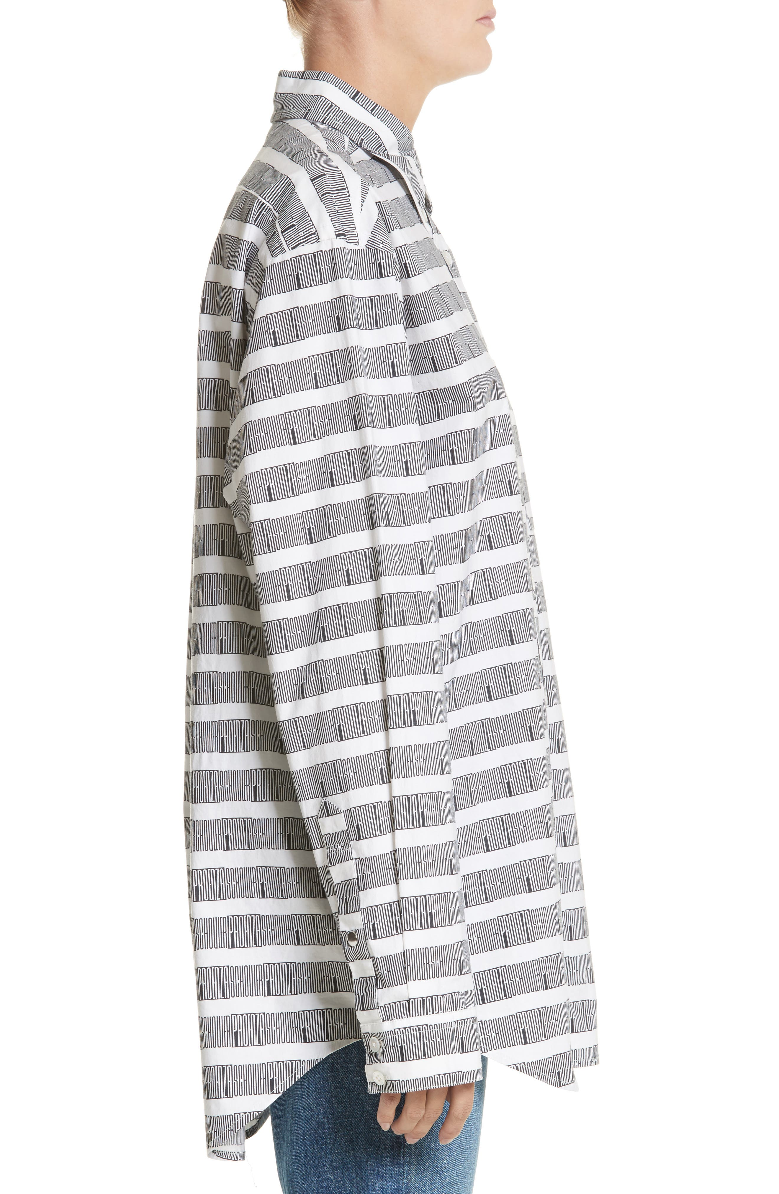 PSWL Graphic Stripe Cotton Top,                             Alternate thumbnail 3, color,                             001