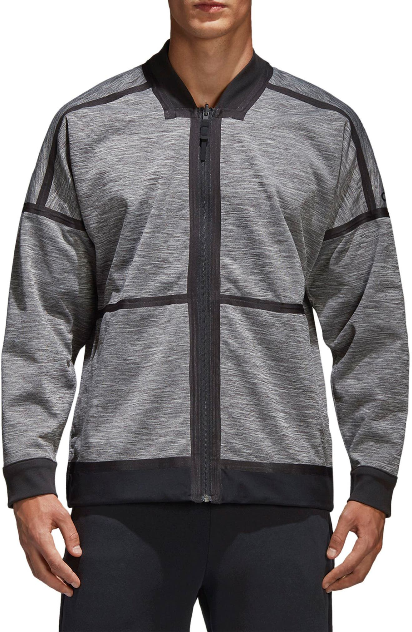 Z.N.E. Reversible Ventilated Jacket,                             Main thumbnail 1, color,                             BLACK / STORM HEATHER/ MGH