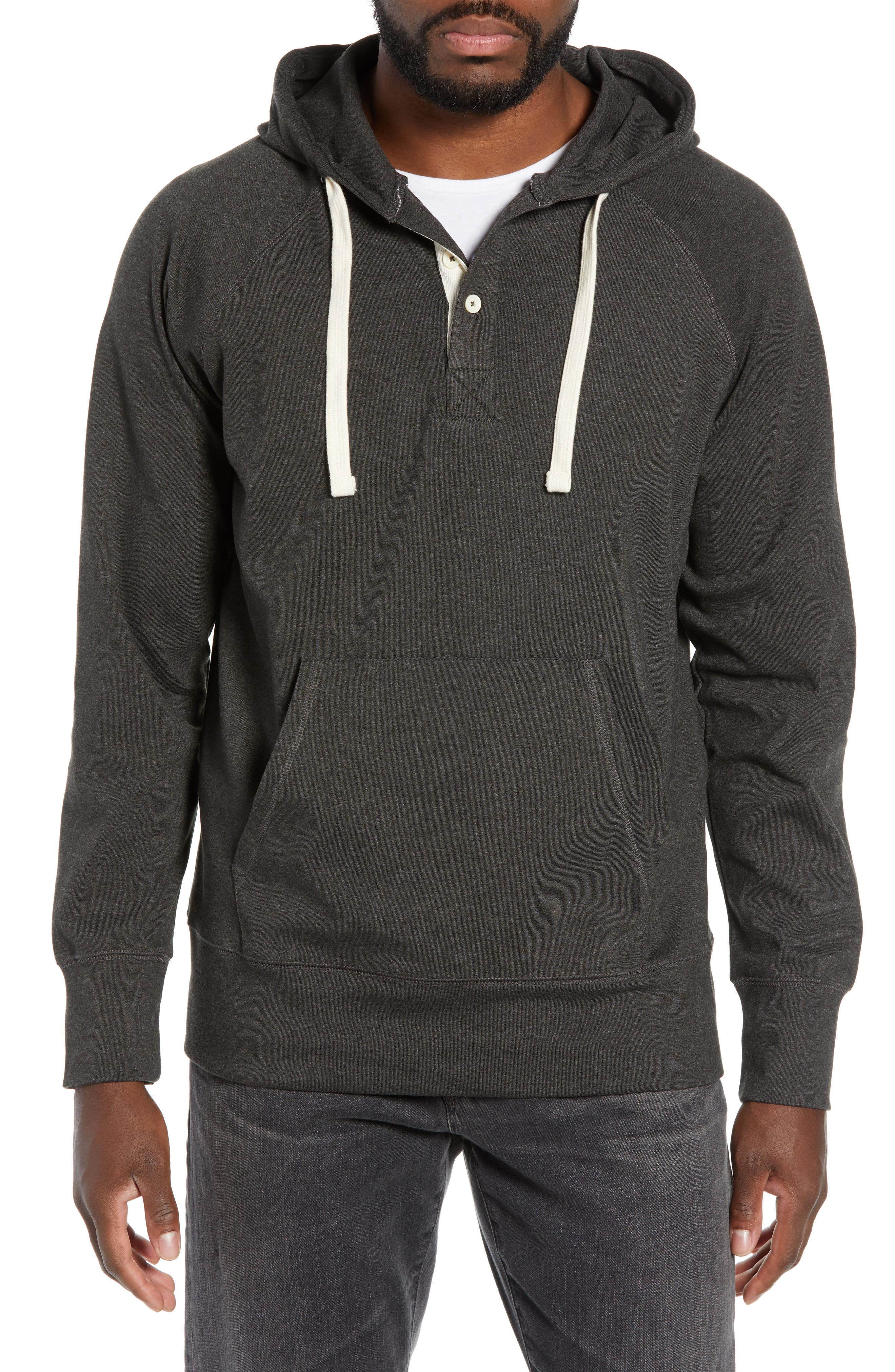 Puremeso Pullover Hoodie, Main, color, CHARCOAL