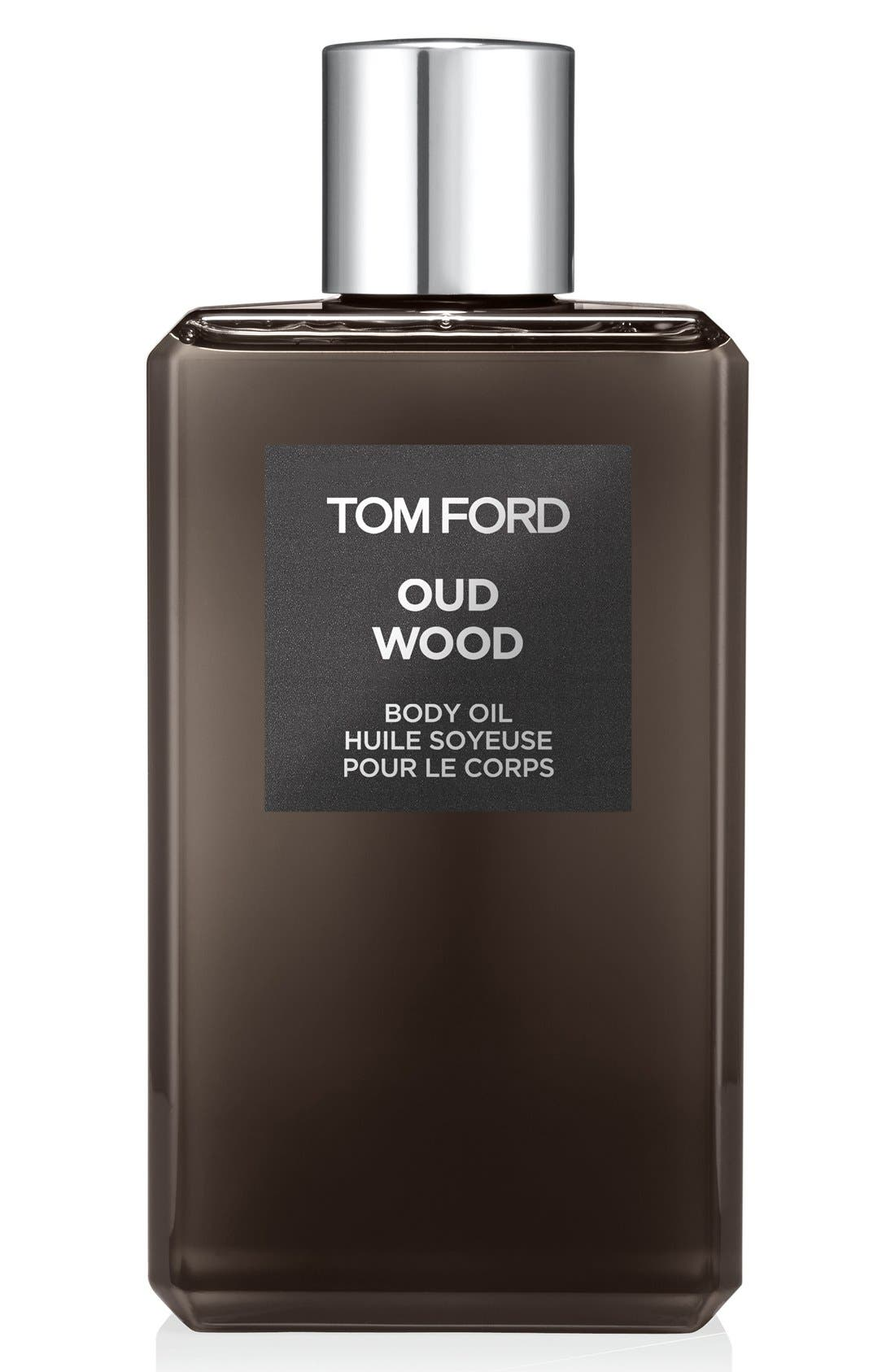 Private Blend Oud Wood Body Oil,                             Main thumbnail 1, color,                             000
