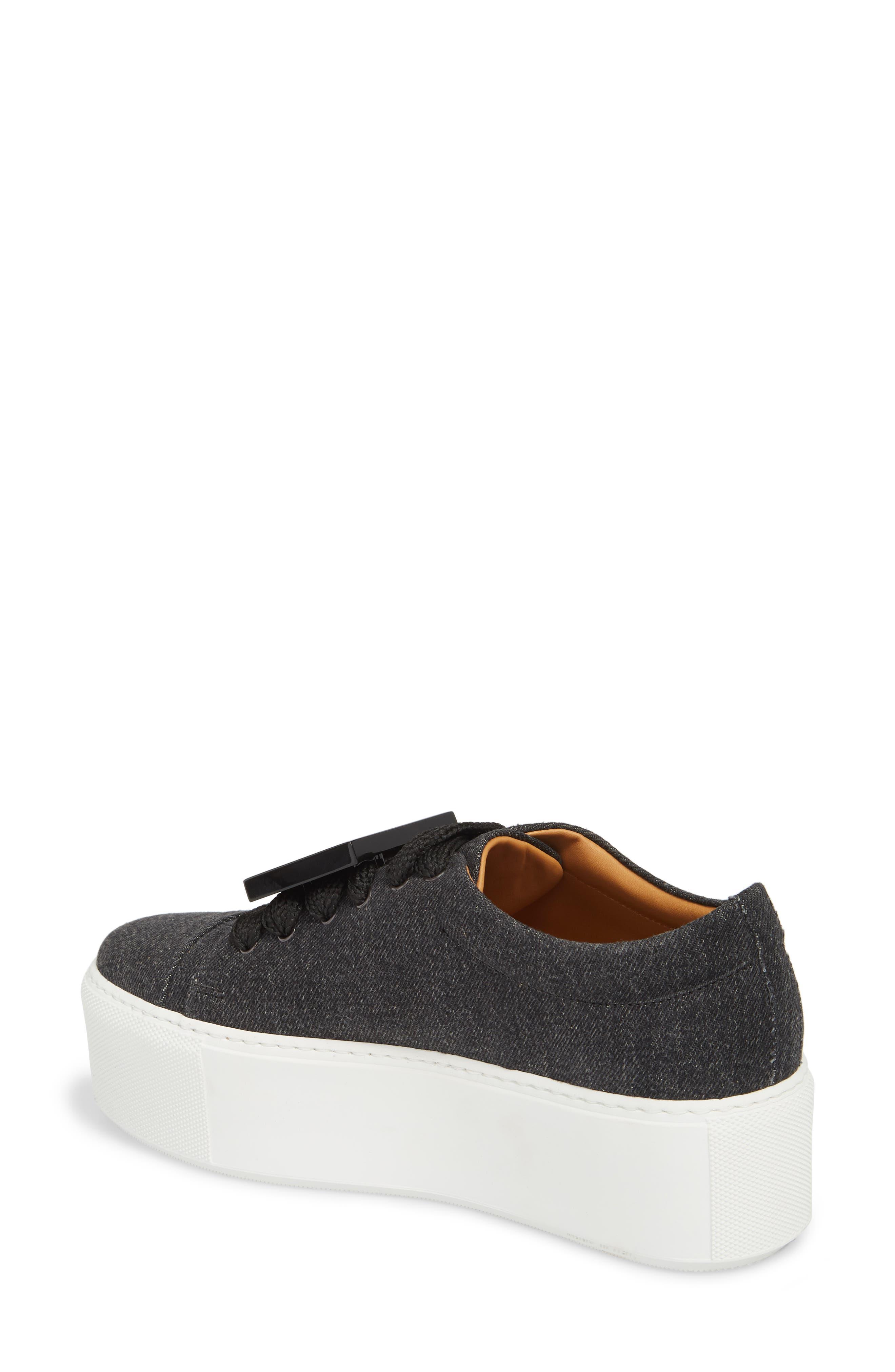 Drihanna Denim Platform Sneaker,                             Alternate thumbnail 2, color,                             001