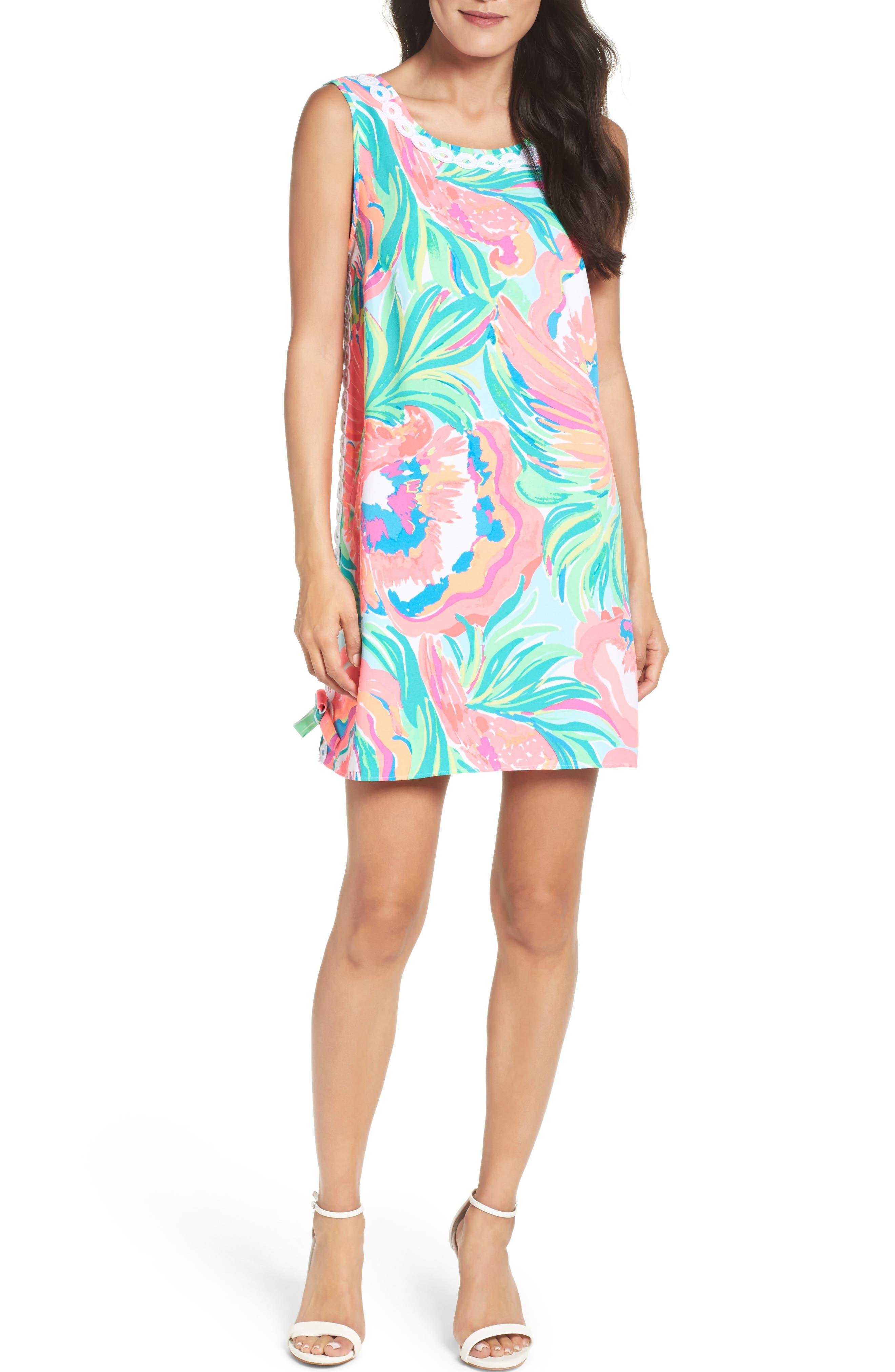 Stella Shift Dress,                             Alternate thumbnail 5, color,                             460