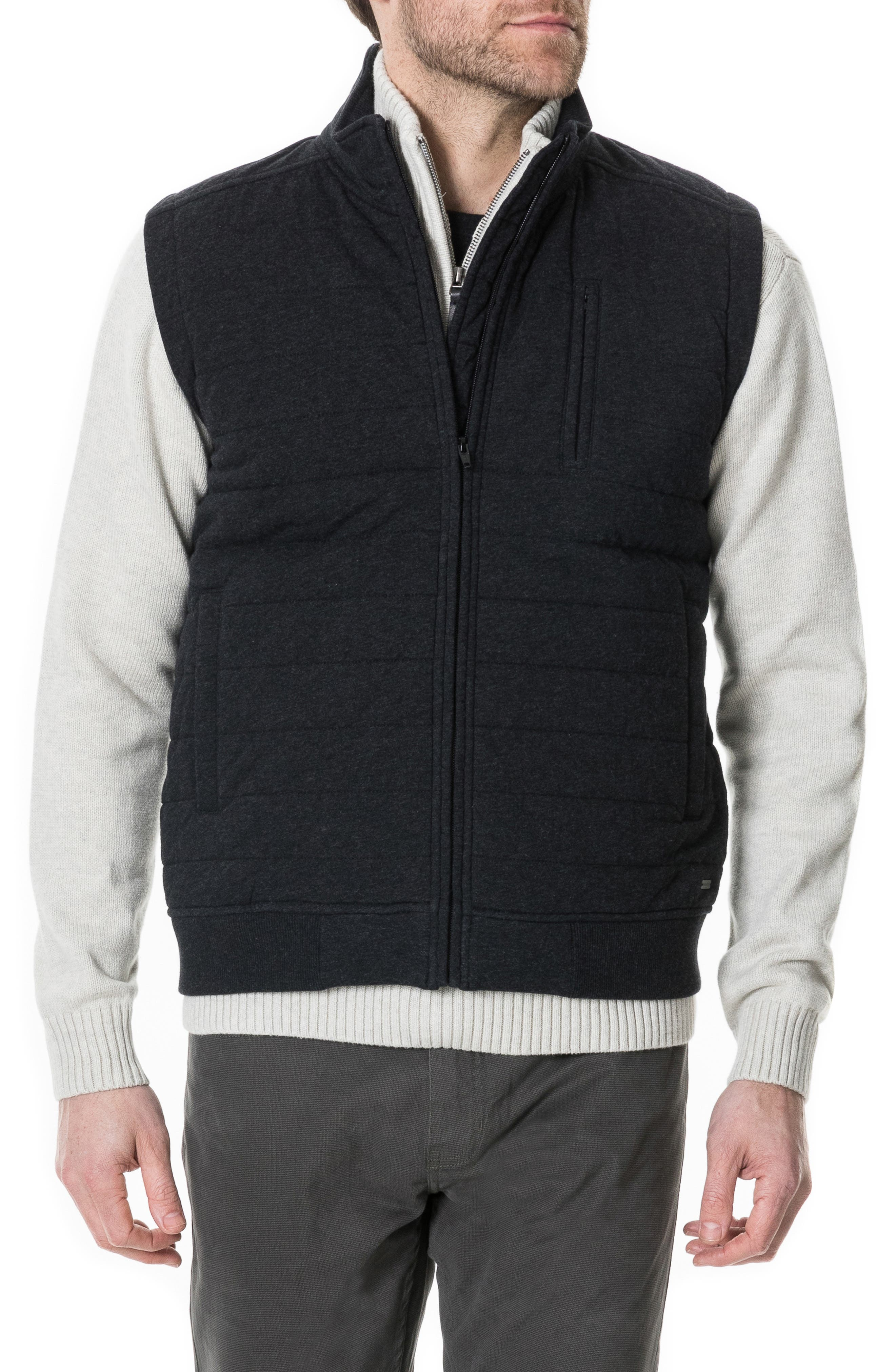 Gould Road Quilted Cotton Flannel Vest,                         Main,                         color, 020