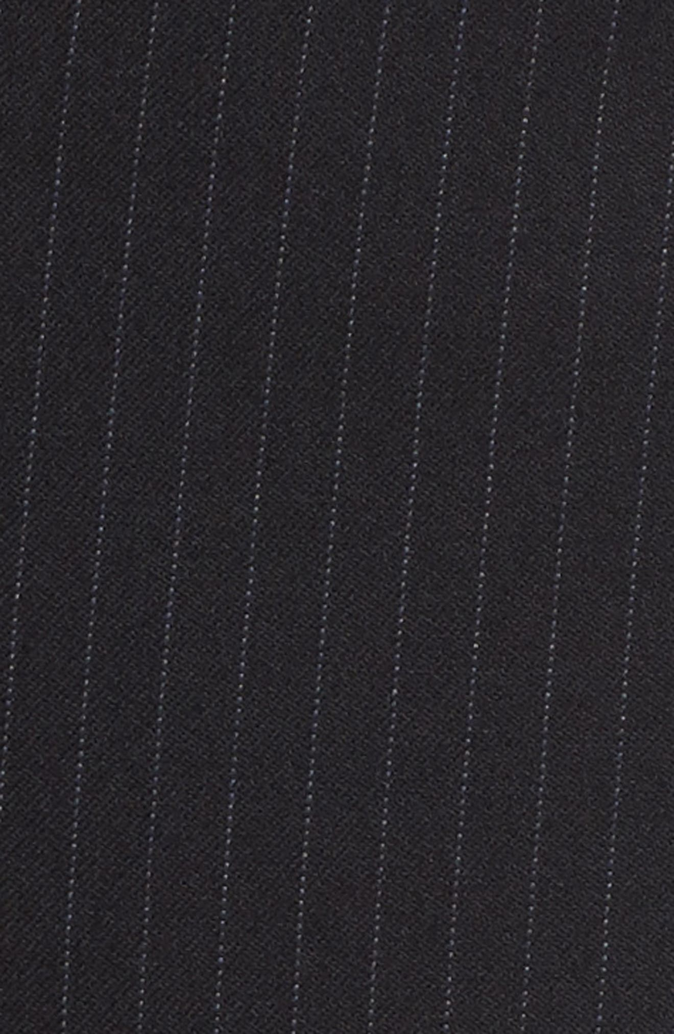 Cuffed Wide Leg Pinstripe Suit Pants,                             Alternate thumbnail 5, color,
