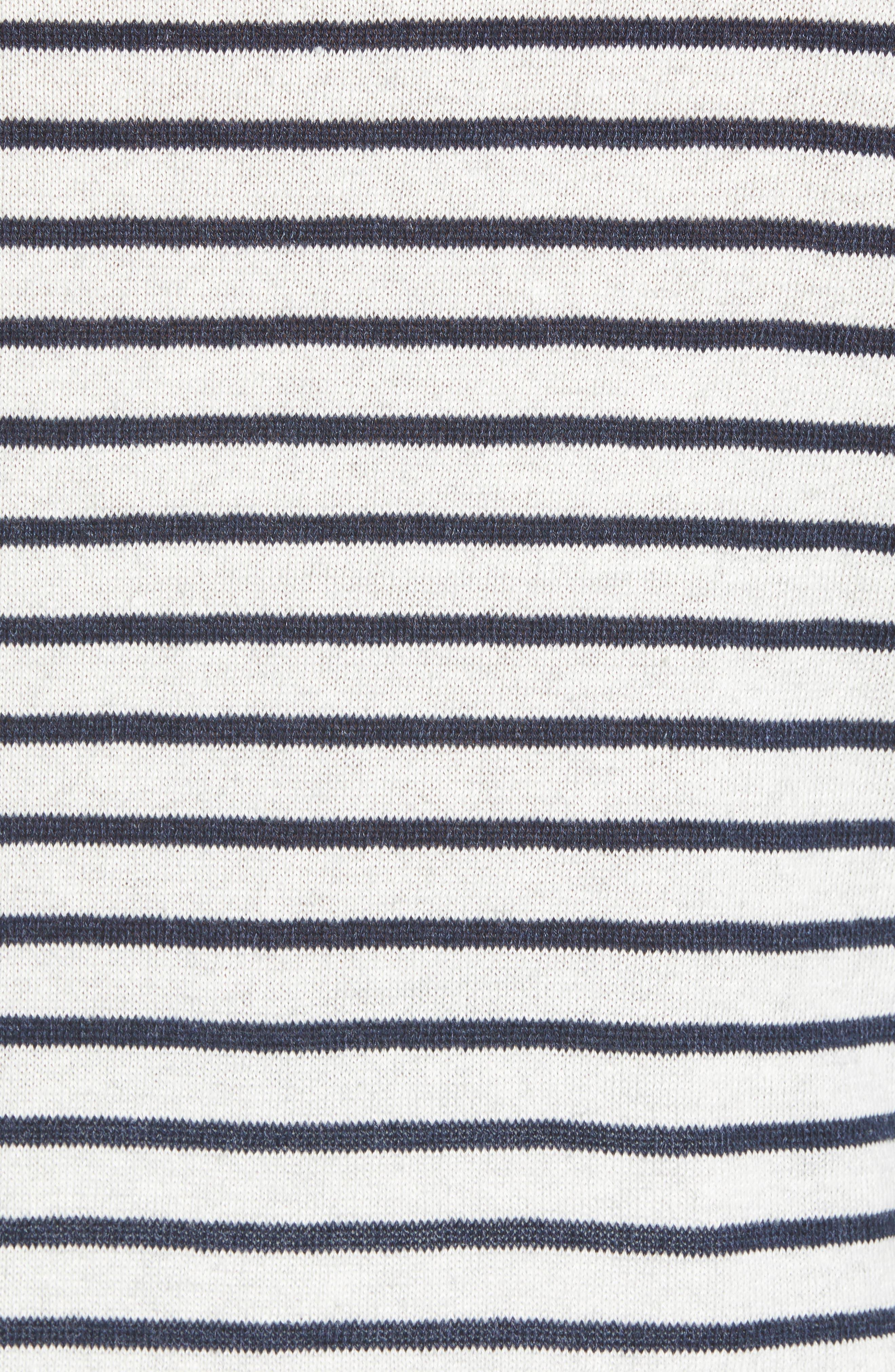 Stripe Hoodie,                             Alternate thumbnail 5, color,                             H WHITE/ H NEW COASTAL