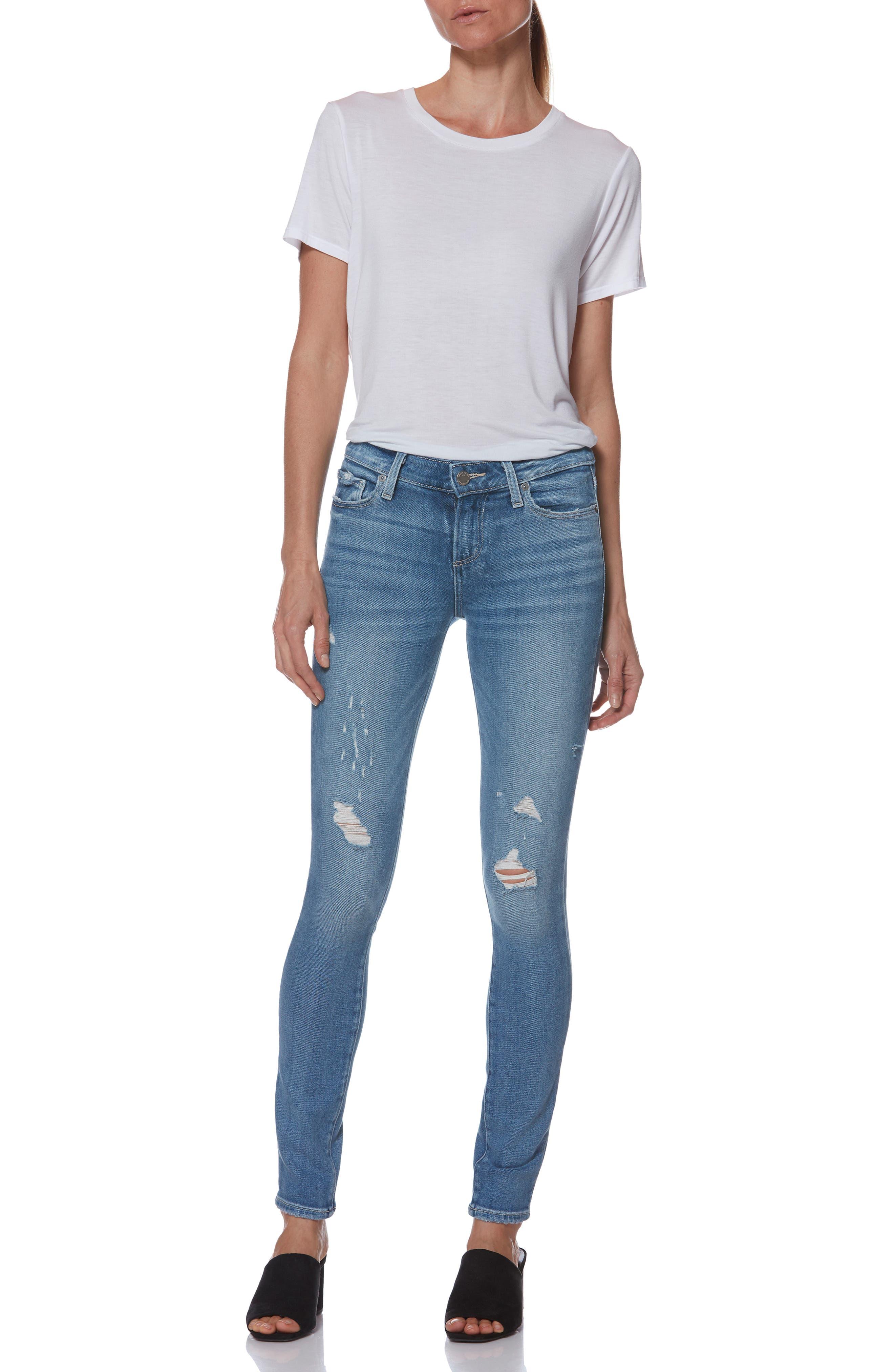PAIGE,                             Verdugo Ultra Skinny Jeans,                             Alternate thumbnail 9, color,                             KAYSON DISTRESSED
