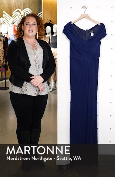 Ruched Jersey Gown, sales video thumbnail
