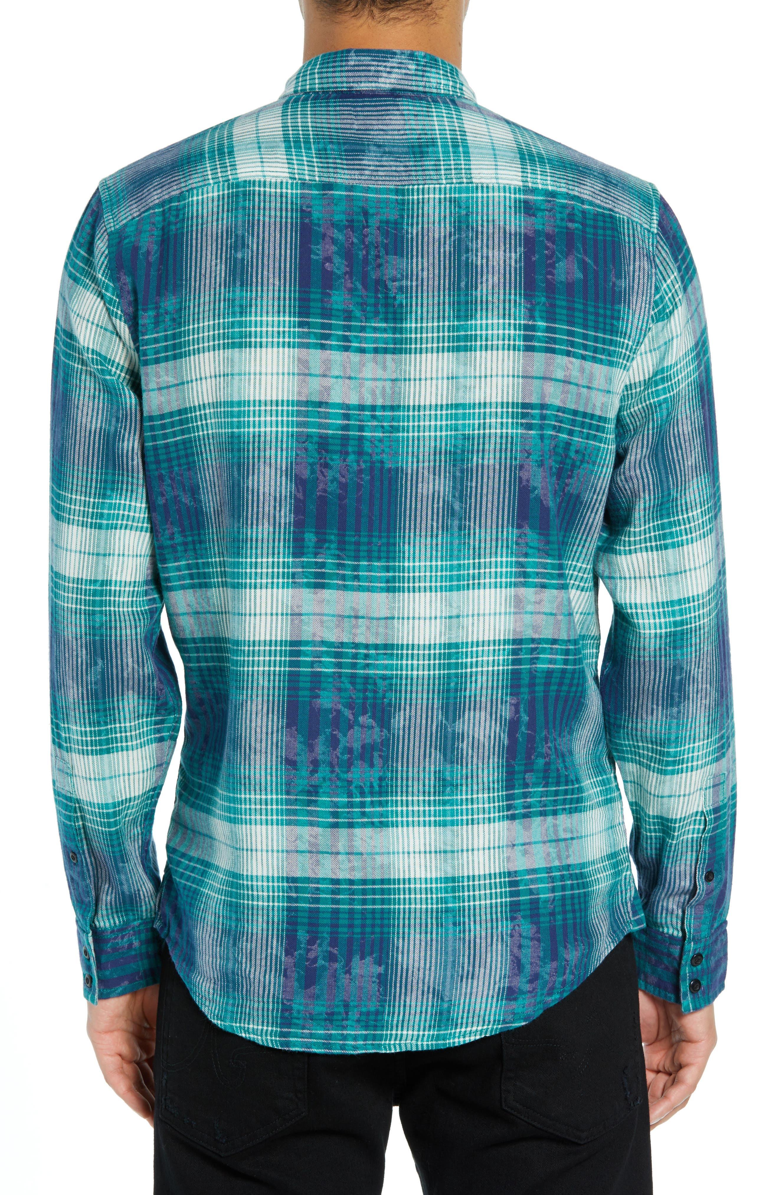 Beach Plaid Shirt,                             Alternate thumbnail 3, color,                             449