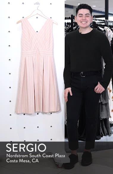 Samantha Slub Stripe Fit & Flare Dress, sales video thumbnail