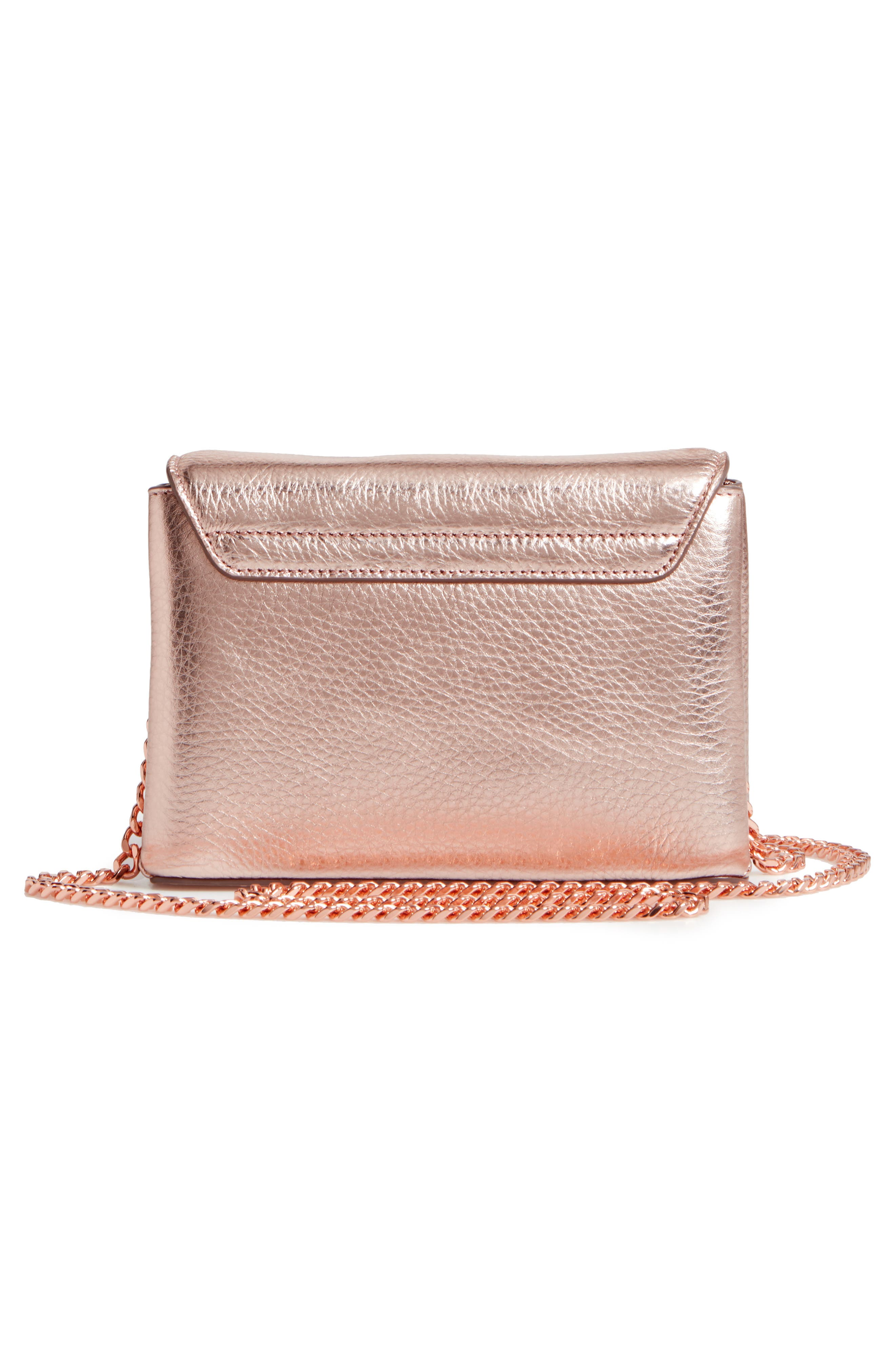 Lupiin Metallic Leather Crossbody Bag,                             Alternate thumbnail 6, color,