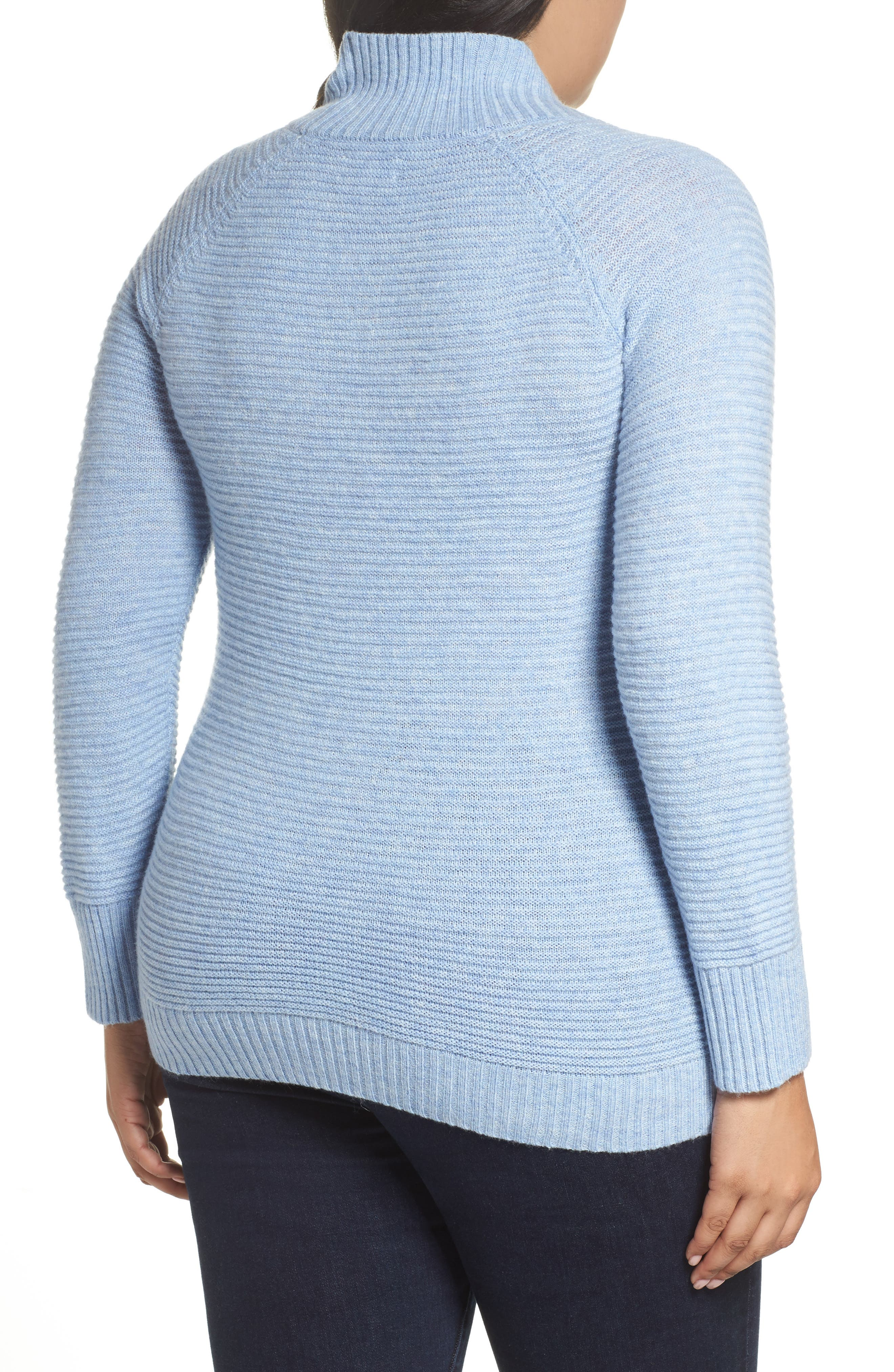 Lace-Up Sweater,                             Alternate thumbnail 4, color,