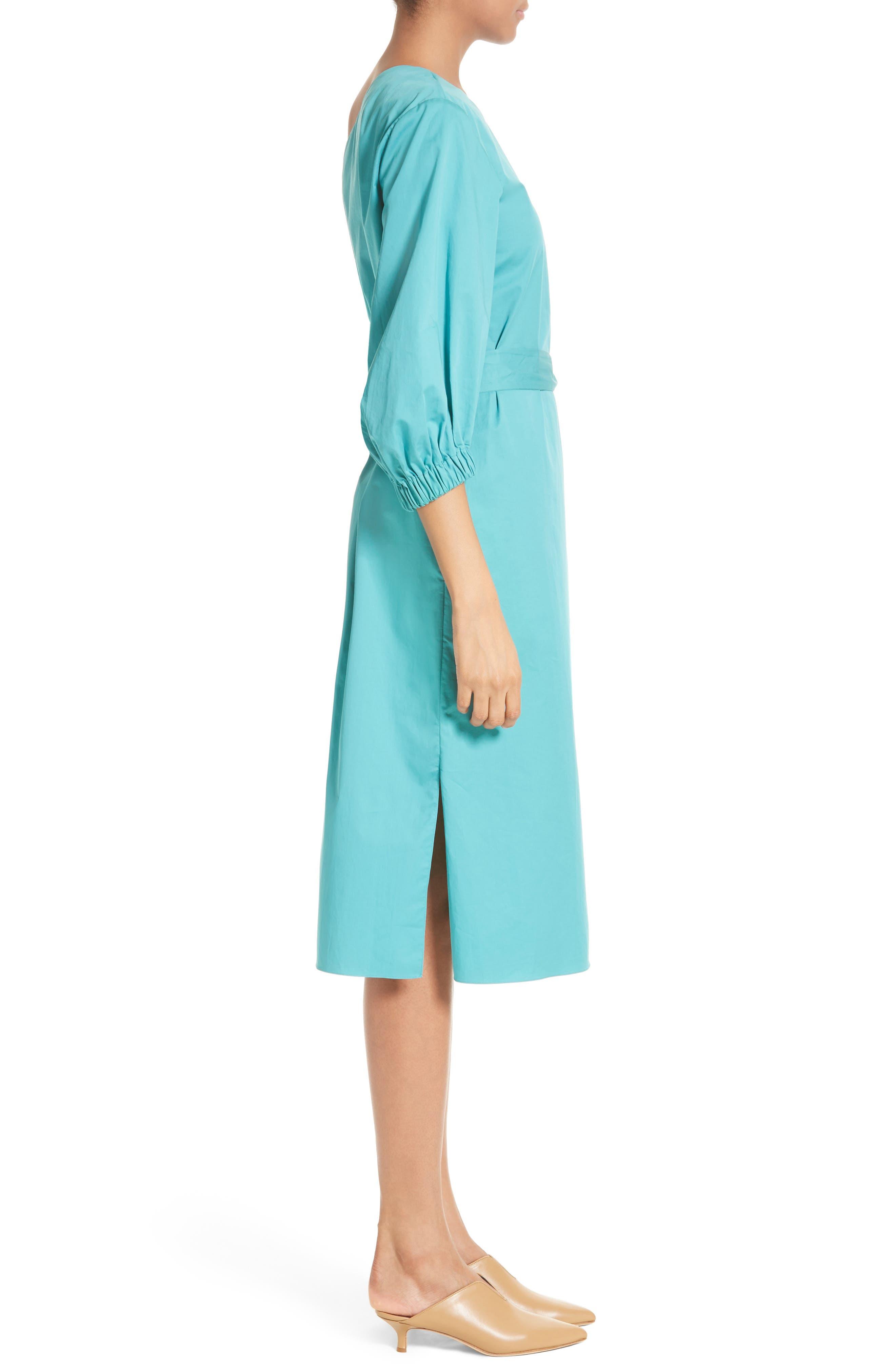 Cotton One-Shoulder Dress,                             Alternate thumbnail 3, color,