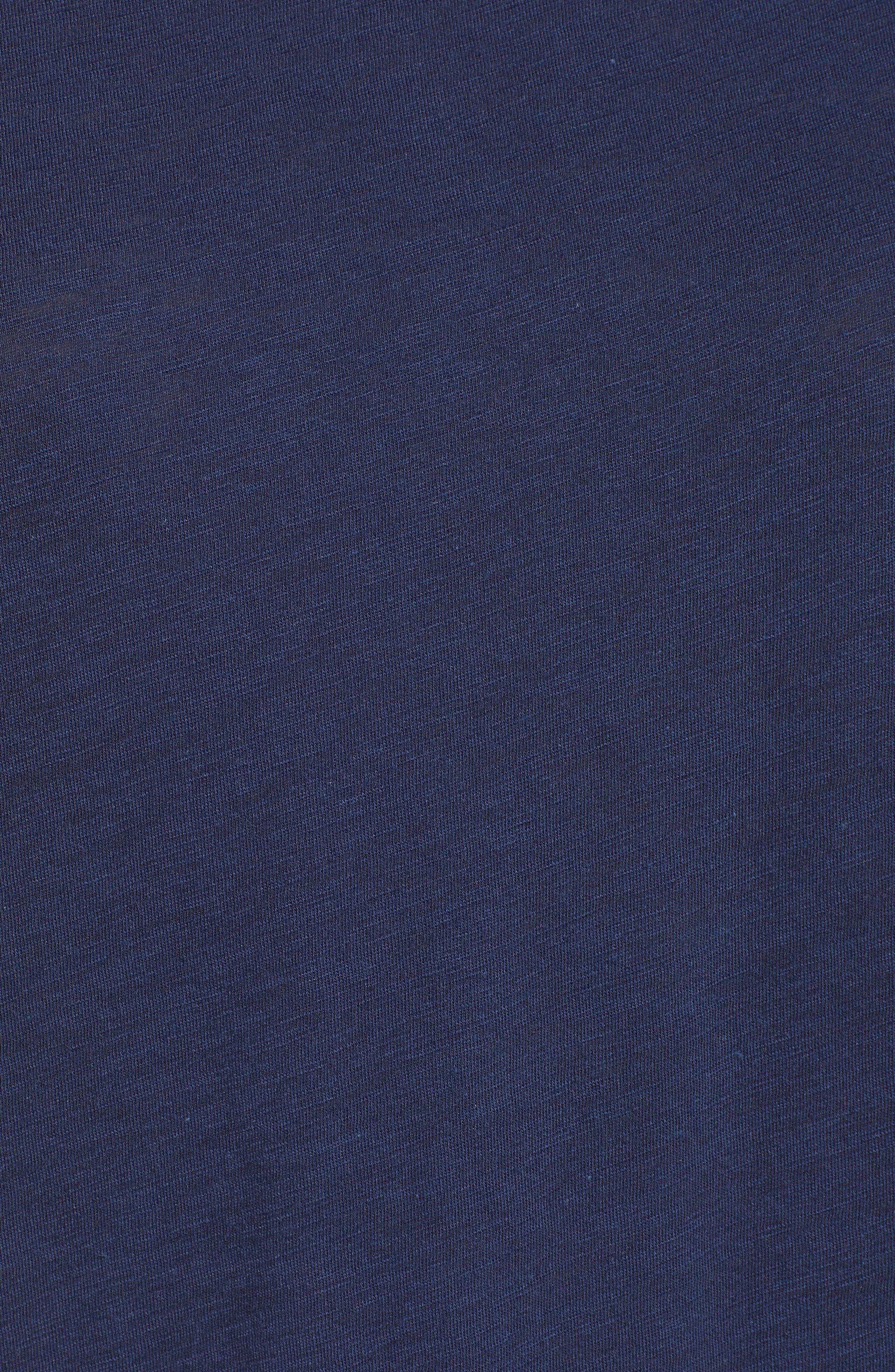 Stripe Sleeve Cotton Blend Athletic Tee,                             Alternate thumbnail 20, color,