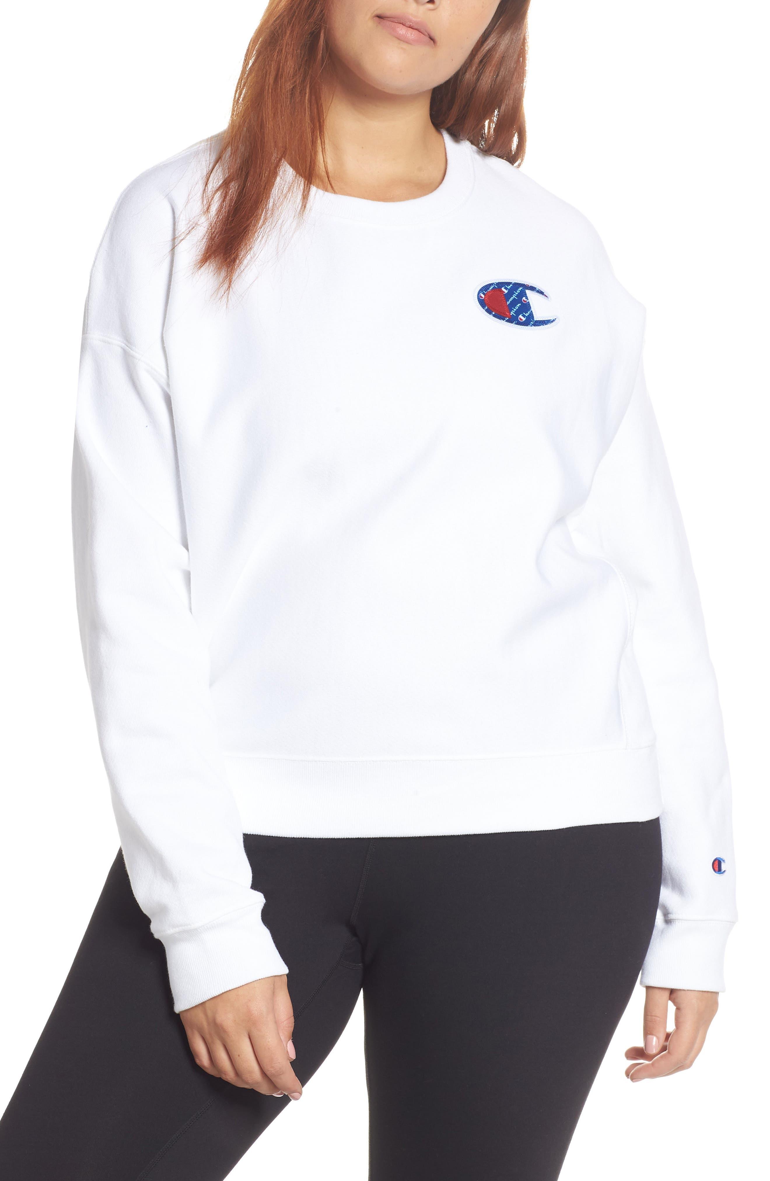 Sublimated Logo Sweatshirt,                             Alternate thumbnail 2, color,                             WHITE