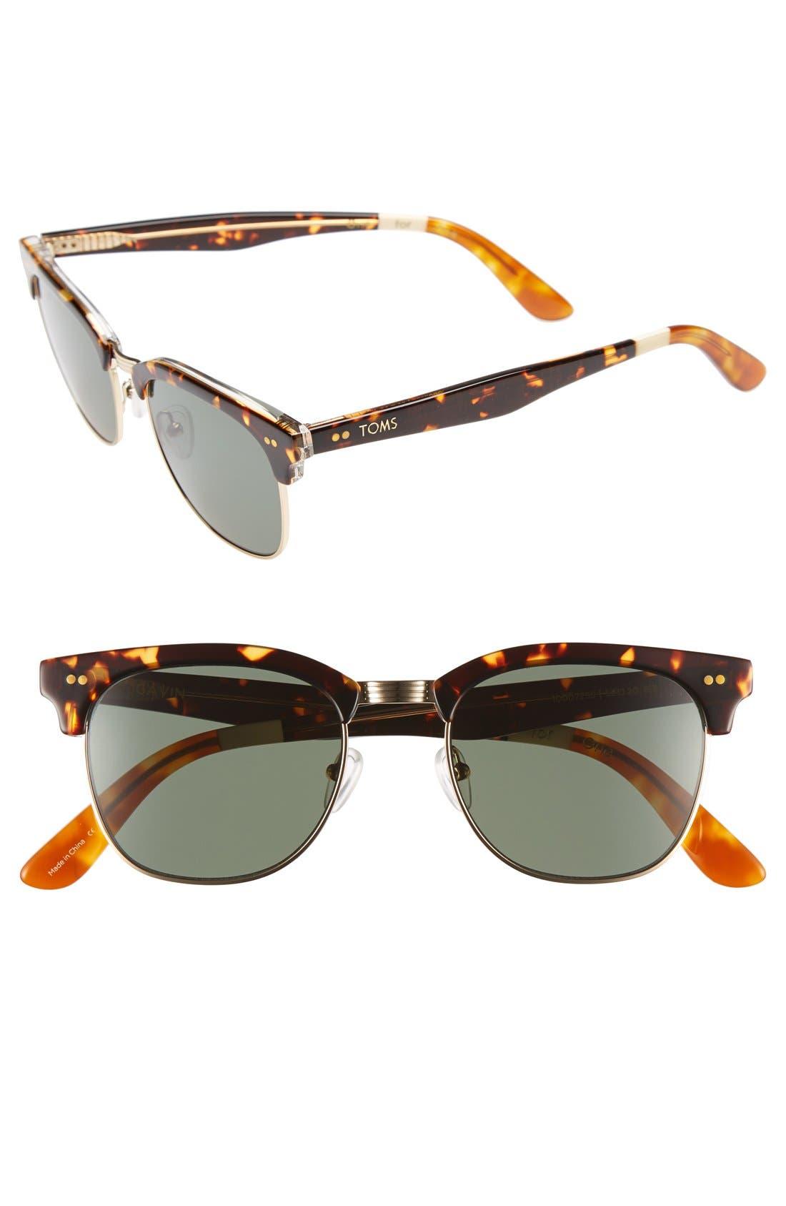 'Gavin' 52mm Sunglasses, Main, color, 200