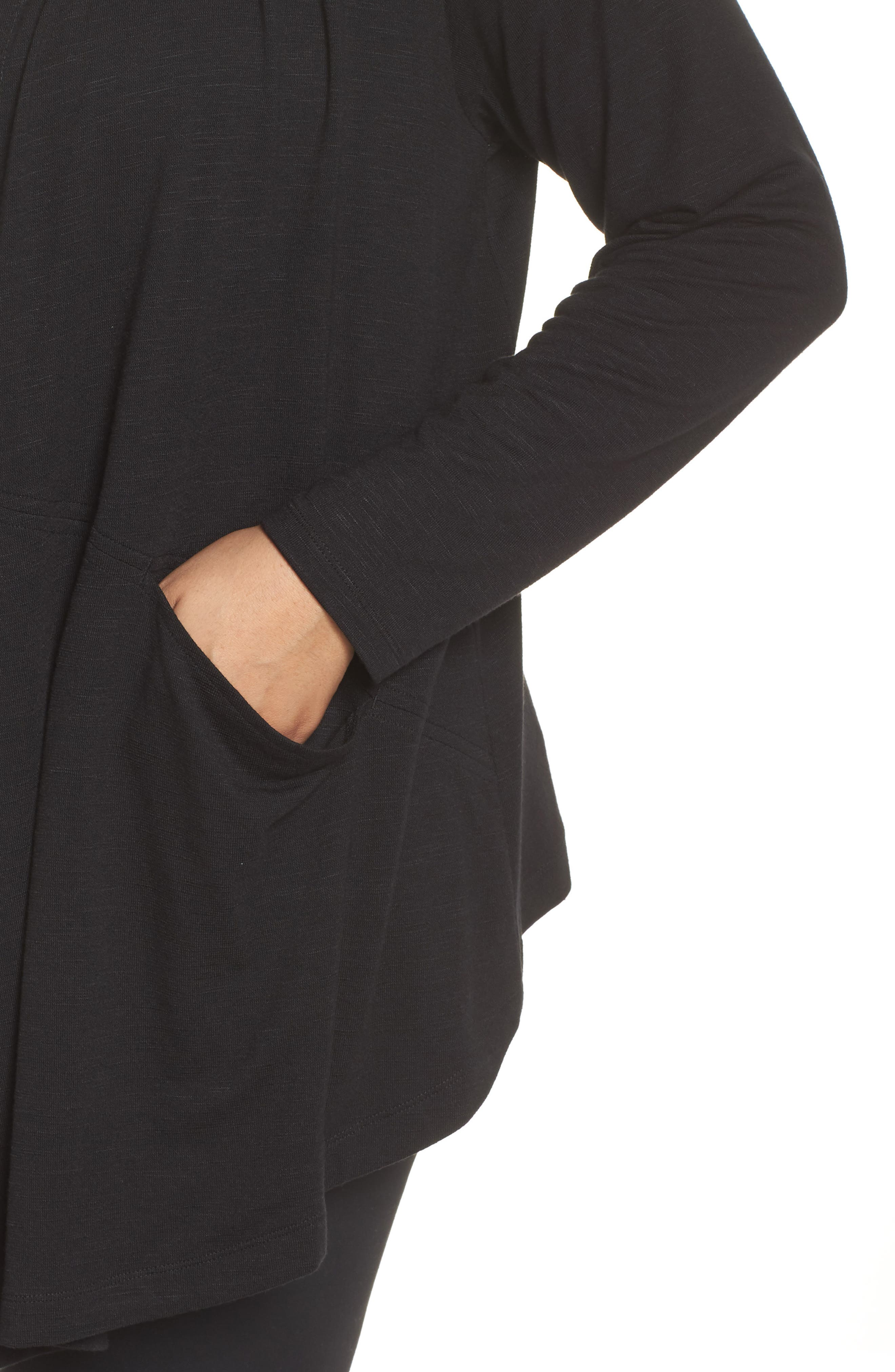 After Class Hooded Cardigan,                             Alternate thumbnail 4, color,                             BLACK