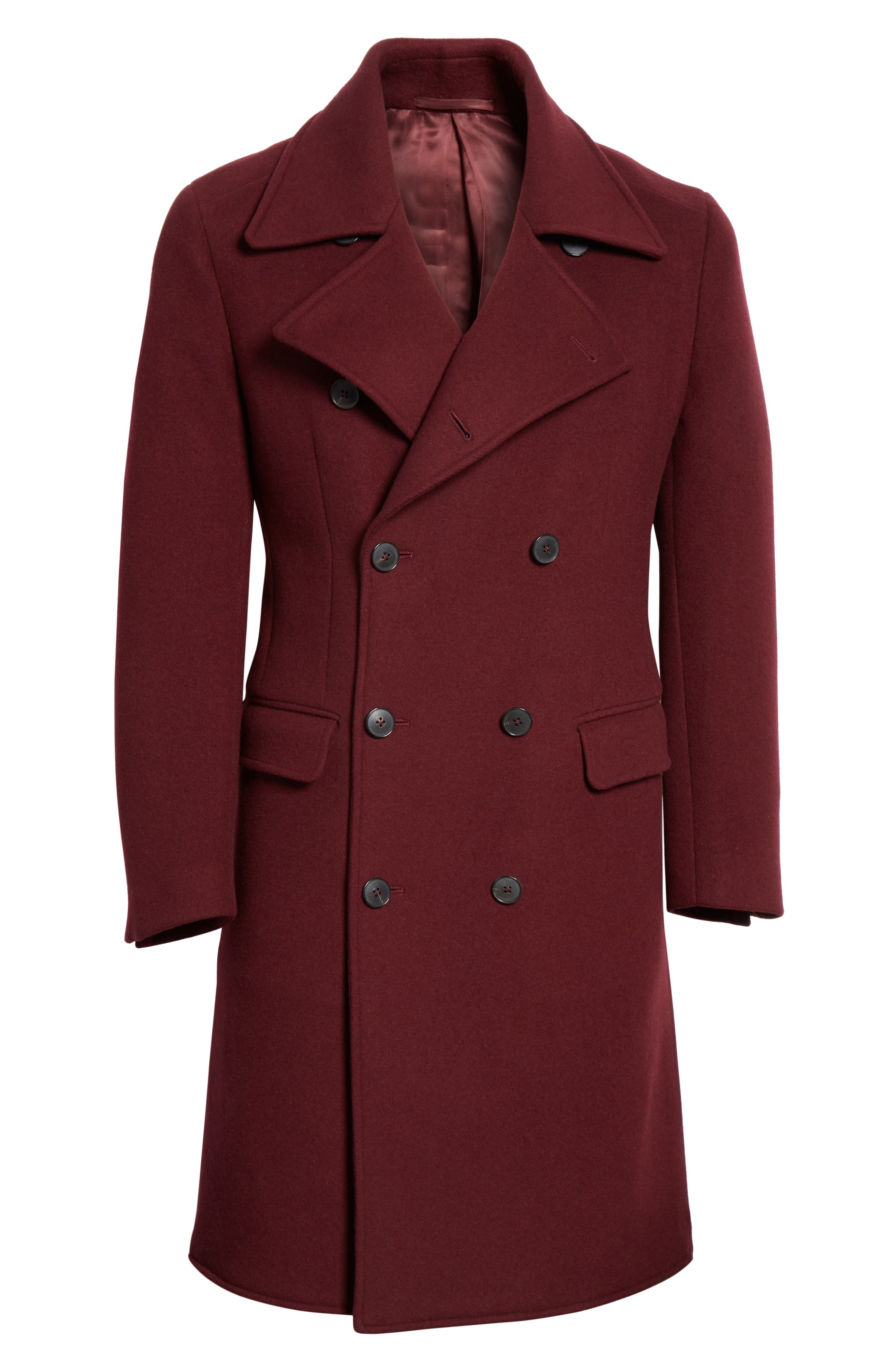Double Breasted Wool & Cashmere Overcoat,                             Alternate thumbnail 5, color,                             930