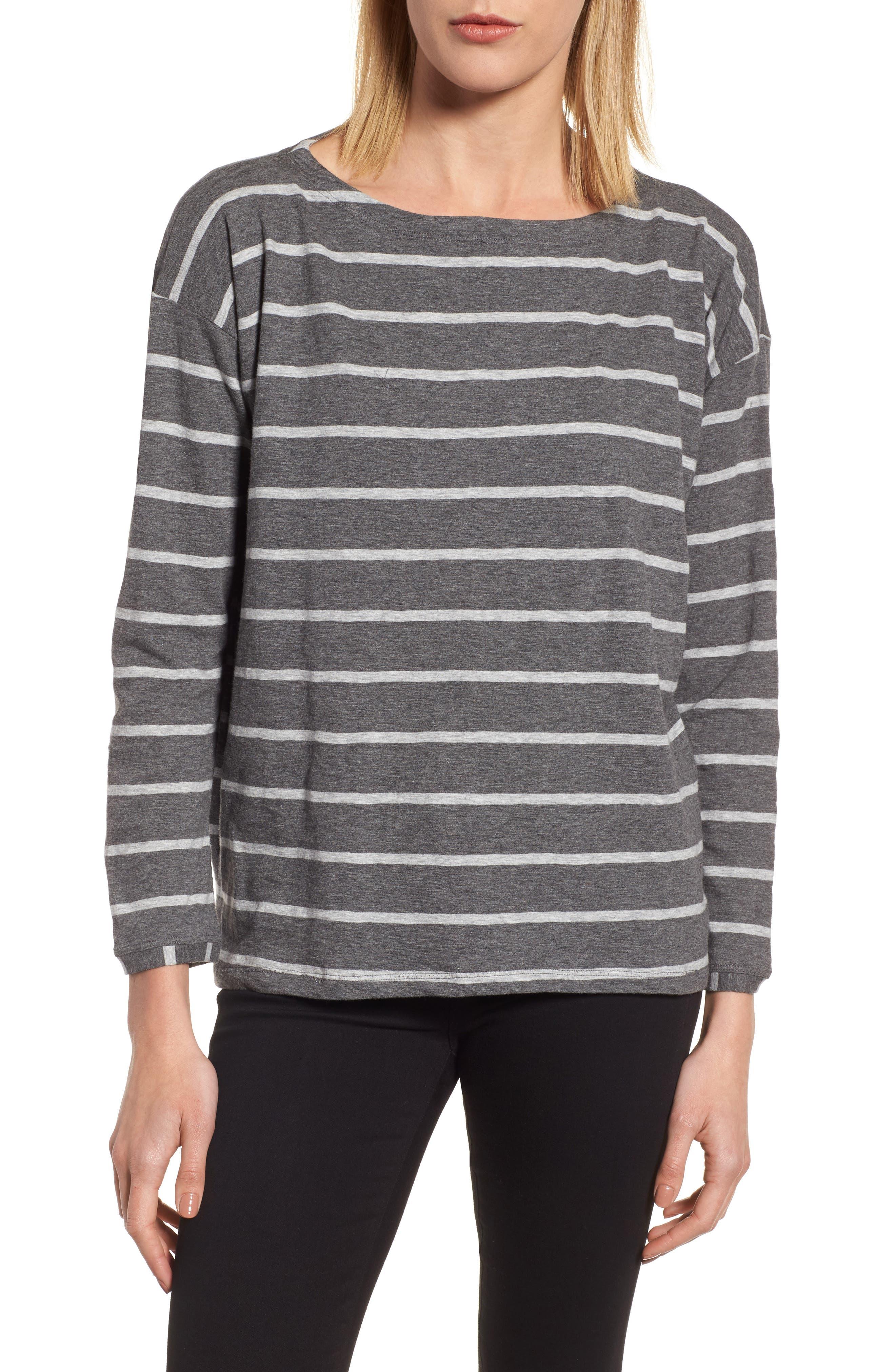 Stripe Organic Cotton Top,                         Main,                         color, 030