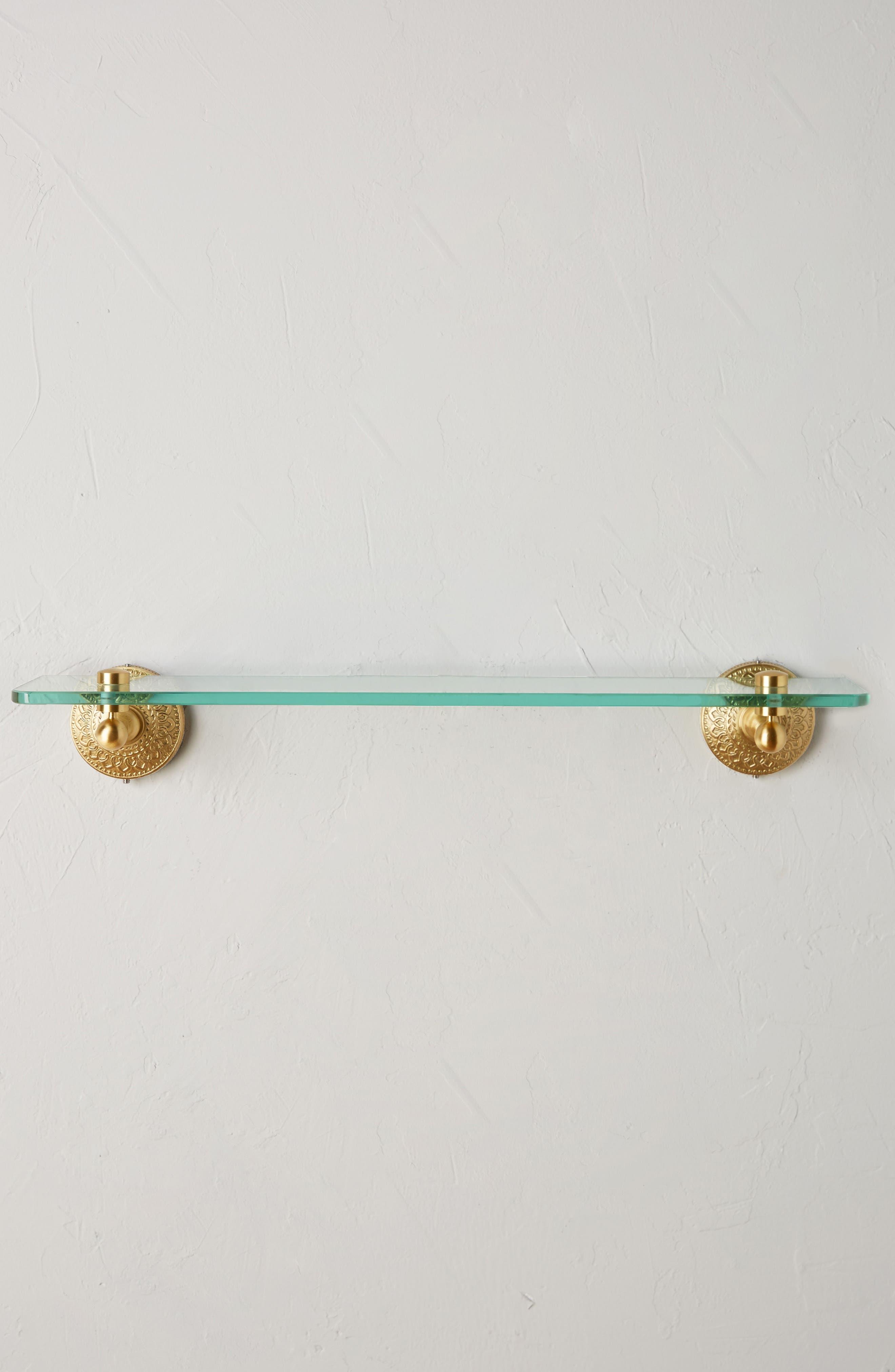 Brass Medallion Shelf,                             Alternate thumbnail 2, color,                             710