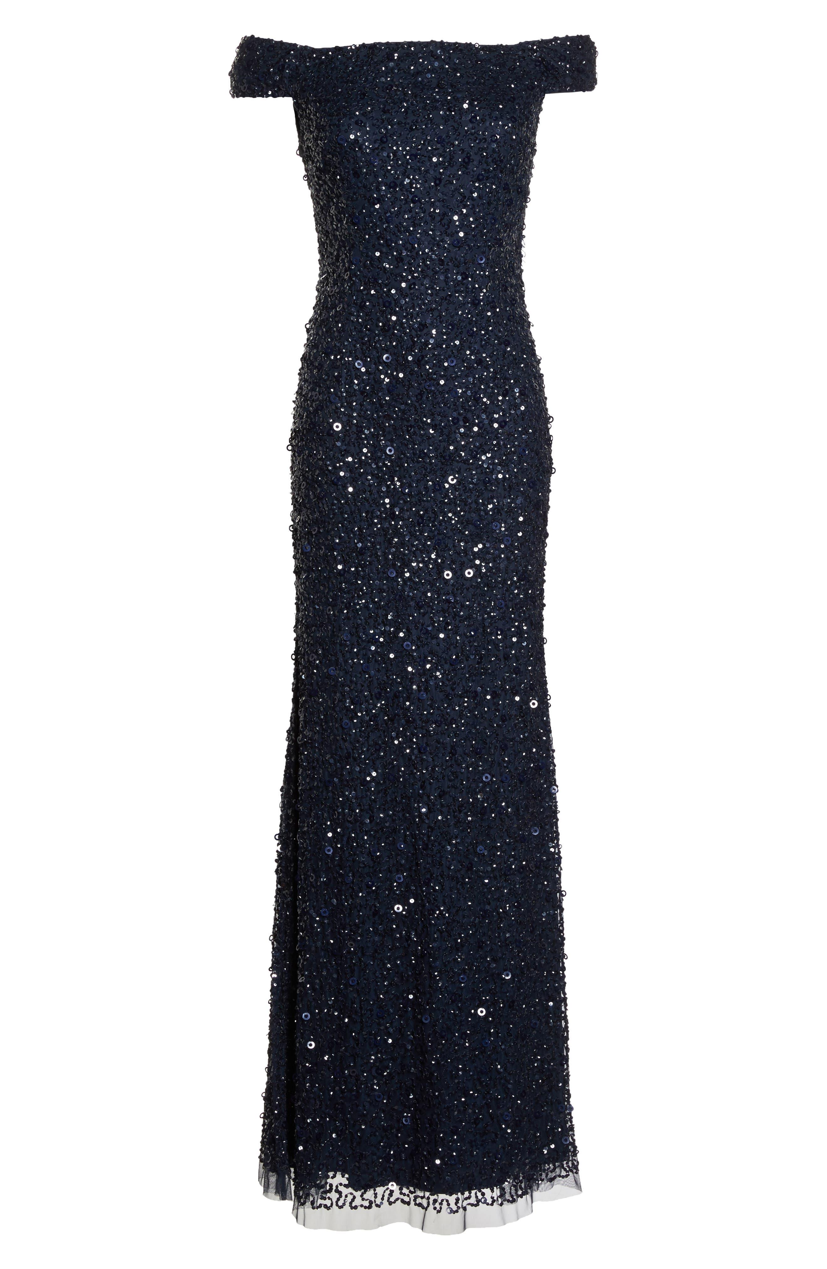 Sequin Mesh Gown,                             Alternate thumbnail 28, color,