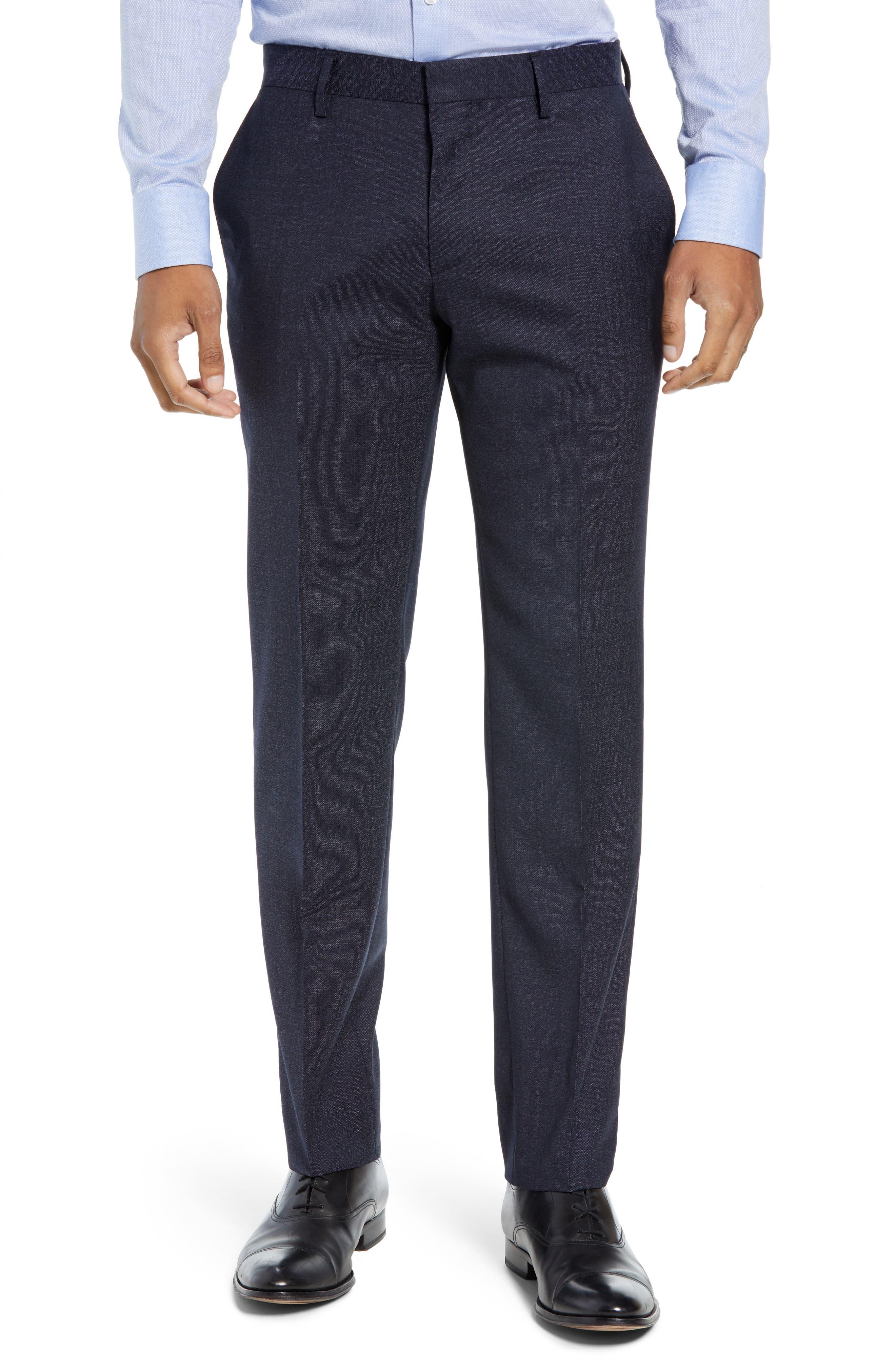Huge/Genius Trim Fit Solid Wool Suit,                             Alternate thumbnail 6, color,                             OPEN BLUE
