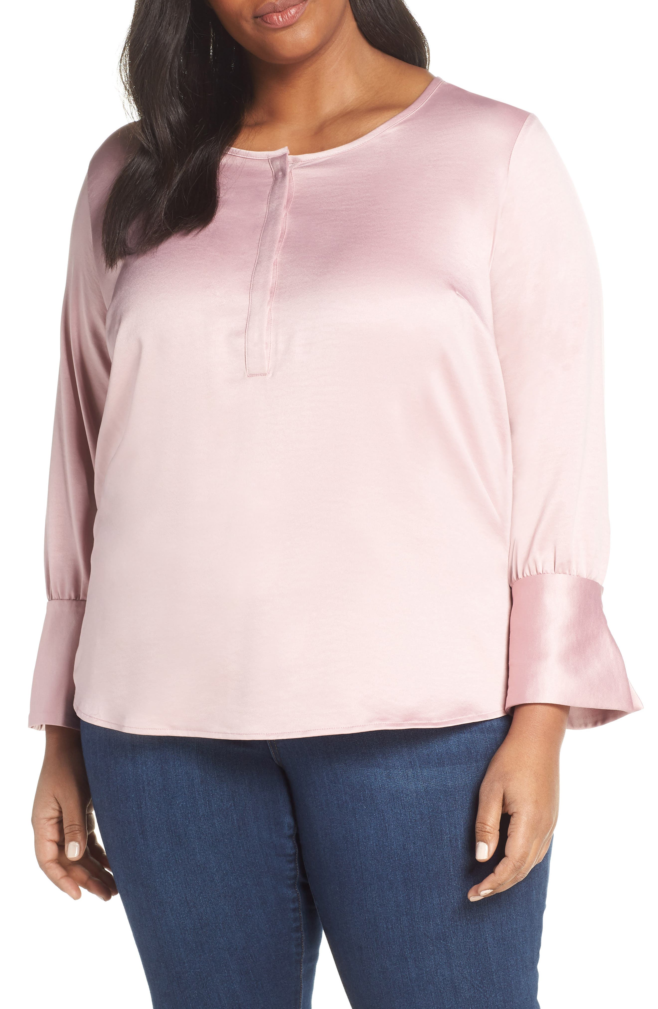 Satin Blouse, Main, color, PINK ZEPHYR